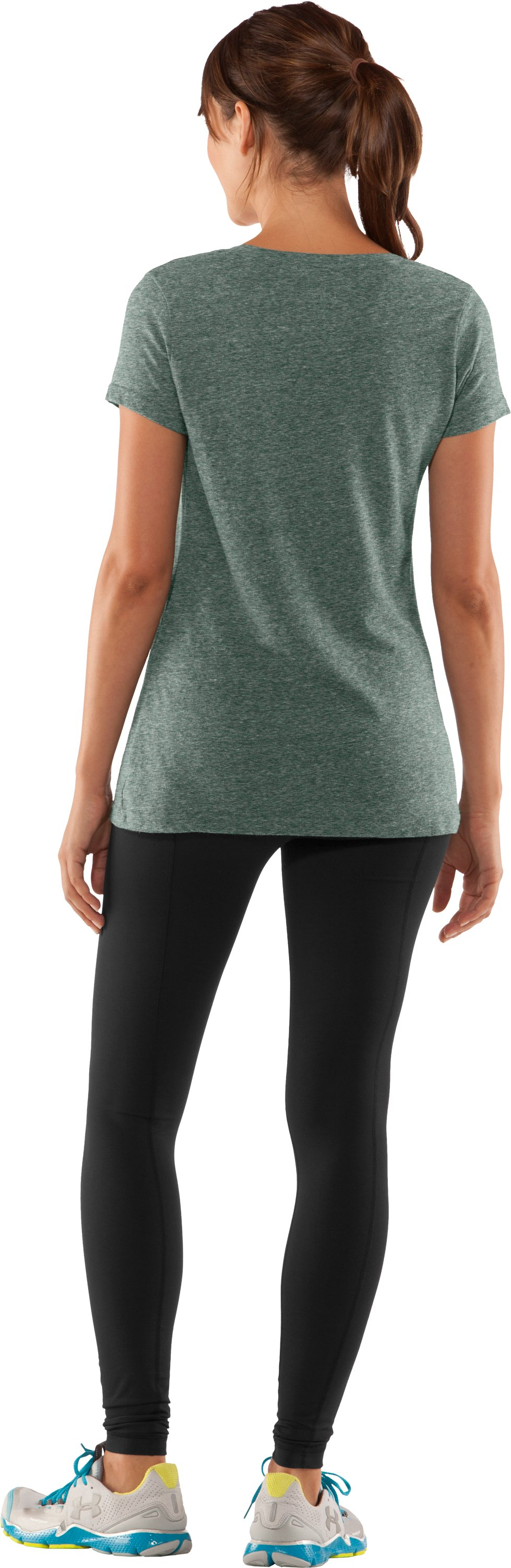 Women's South Florida Under Armour® Legacy T-Shirt, Forest Green, Back