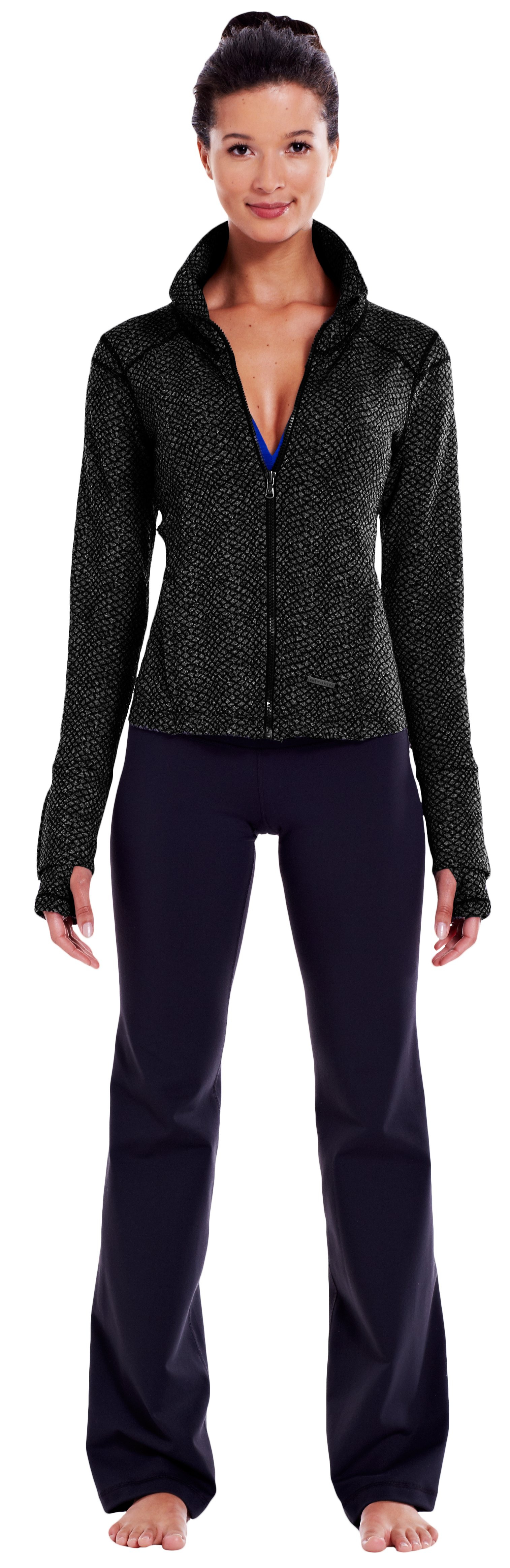 Women's UA StudioLux® Cozy Jacket, Black , zoomed image