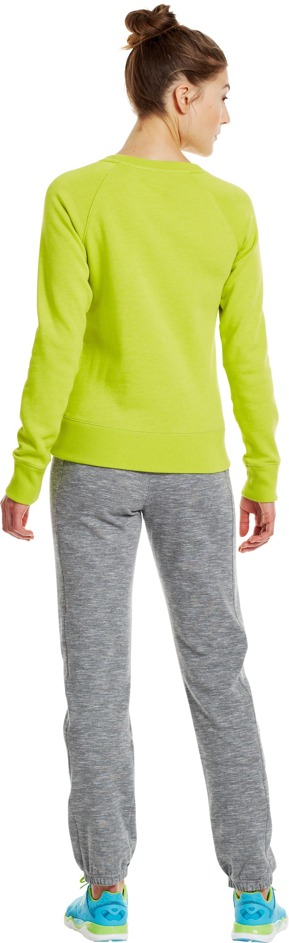 Women's Charged Cotton® Legacy Crew, Lima Bean, Back