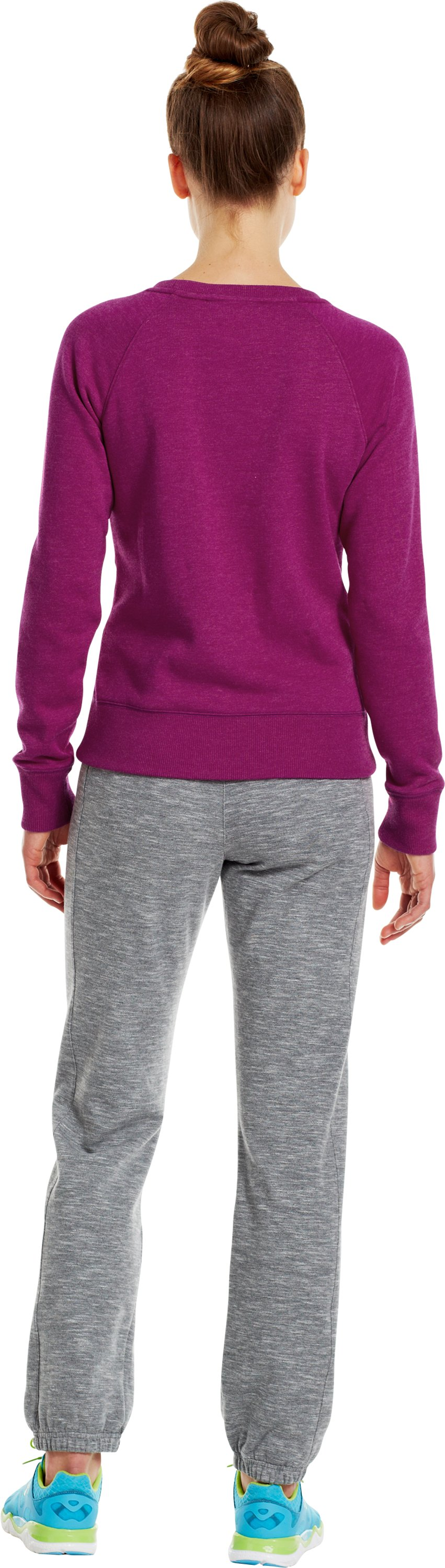 Women's Charged Cotton® Legacy Crew, Aubergine, Back