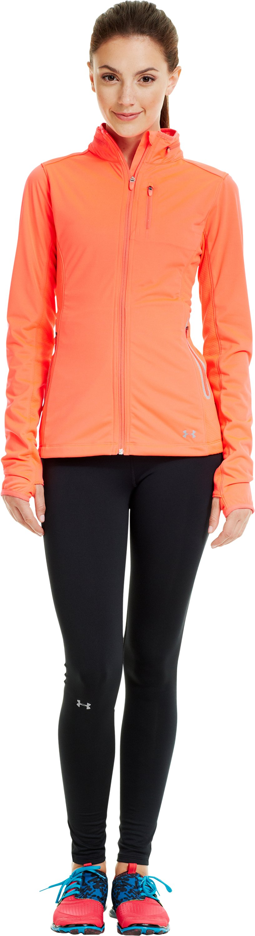Women's ColdGear® Infrared Storm Jacket, Neo Pulse, zoomed image