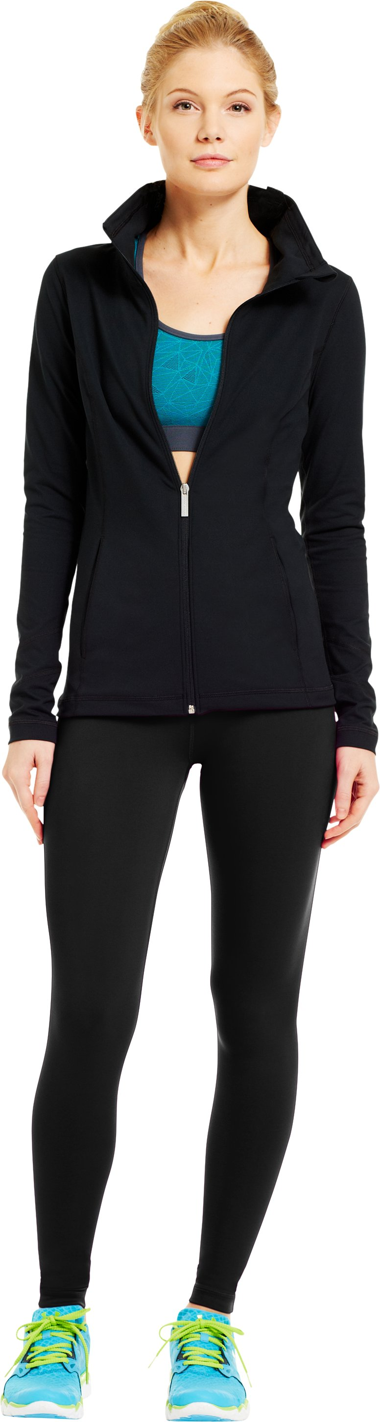 Women's UA Perfect Downtown Legging, Black , Front