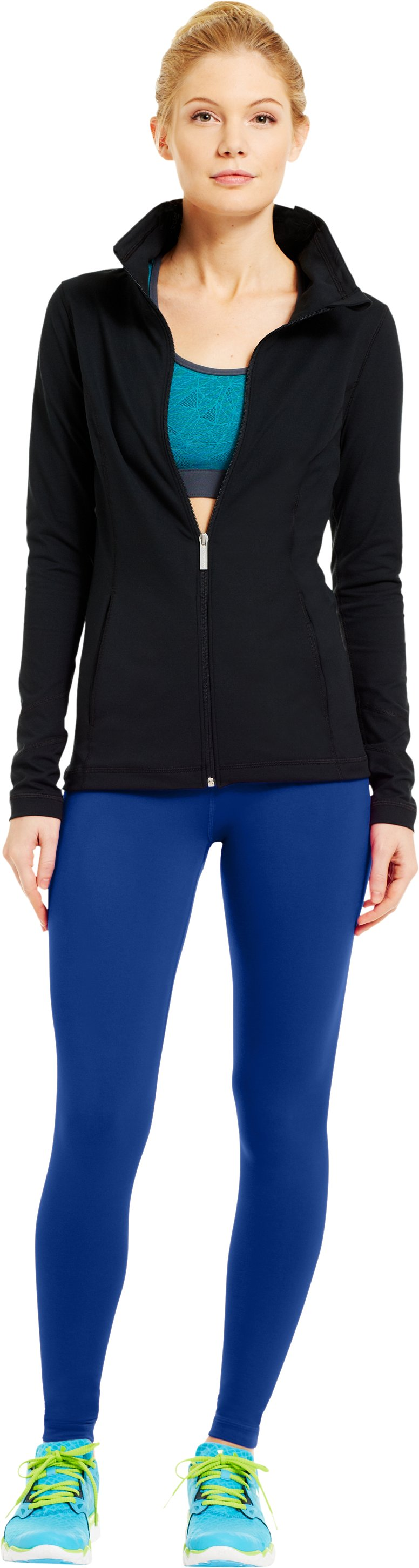 Women's UA Perfect Downtown Legging, BLU-AWAY, Front