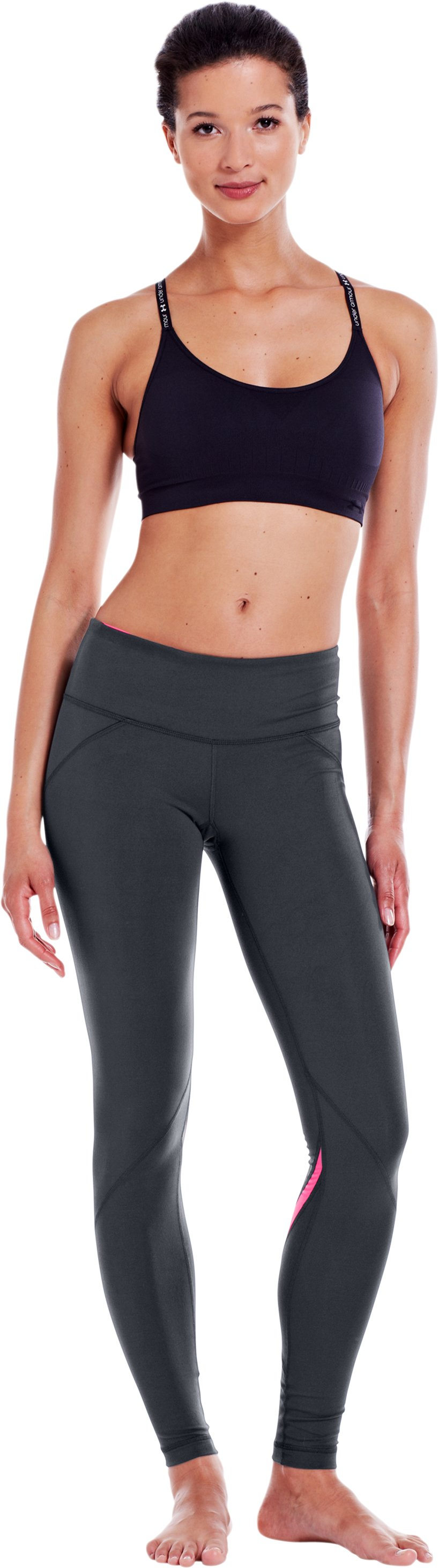 Women's UA Perfect Rave Legging, ANTHRACITE, Front