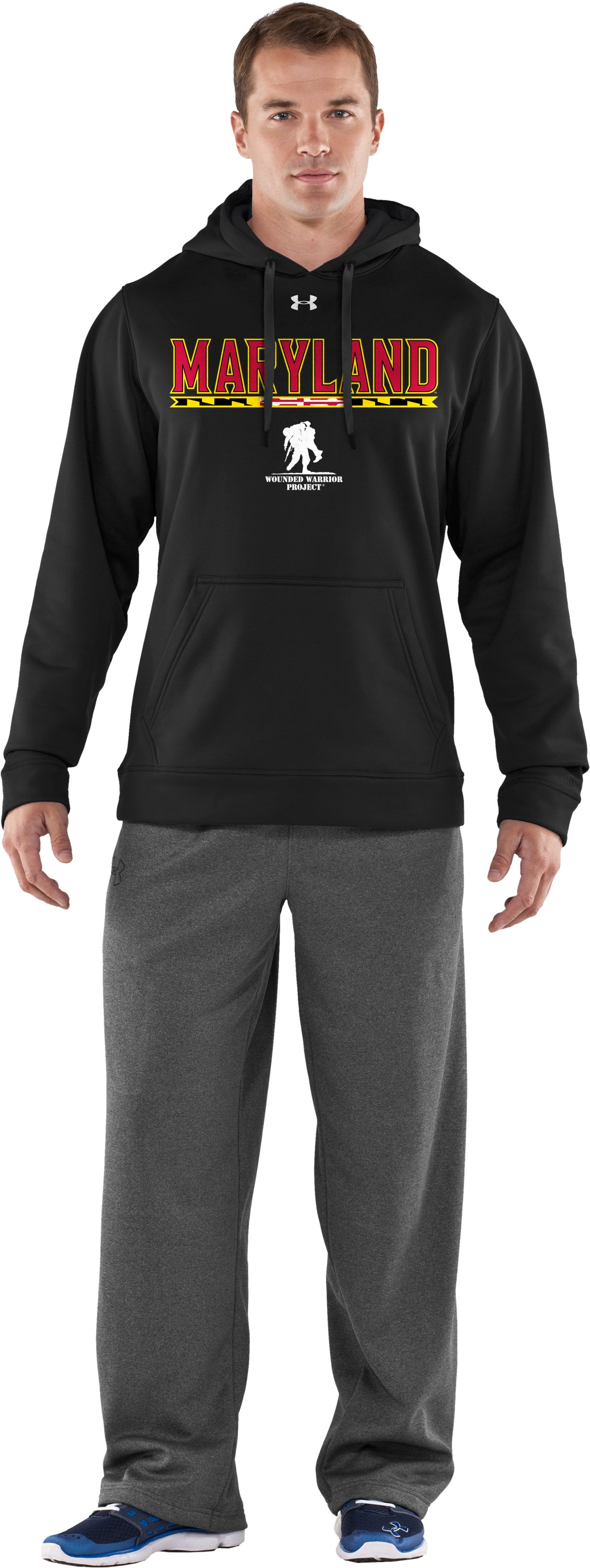 Men's WWP Armour® Fleece Maryland Hoodie, Black , Front
