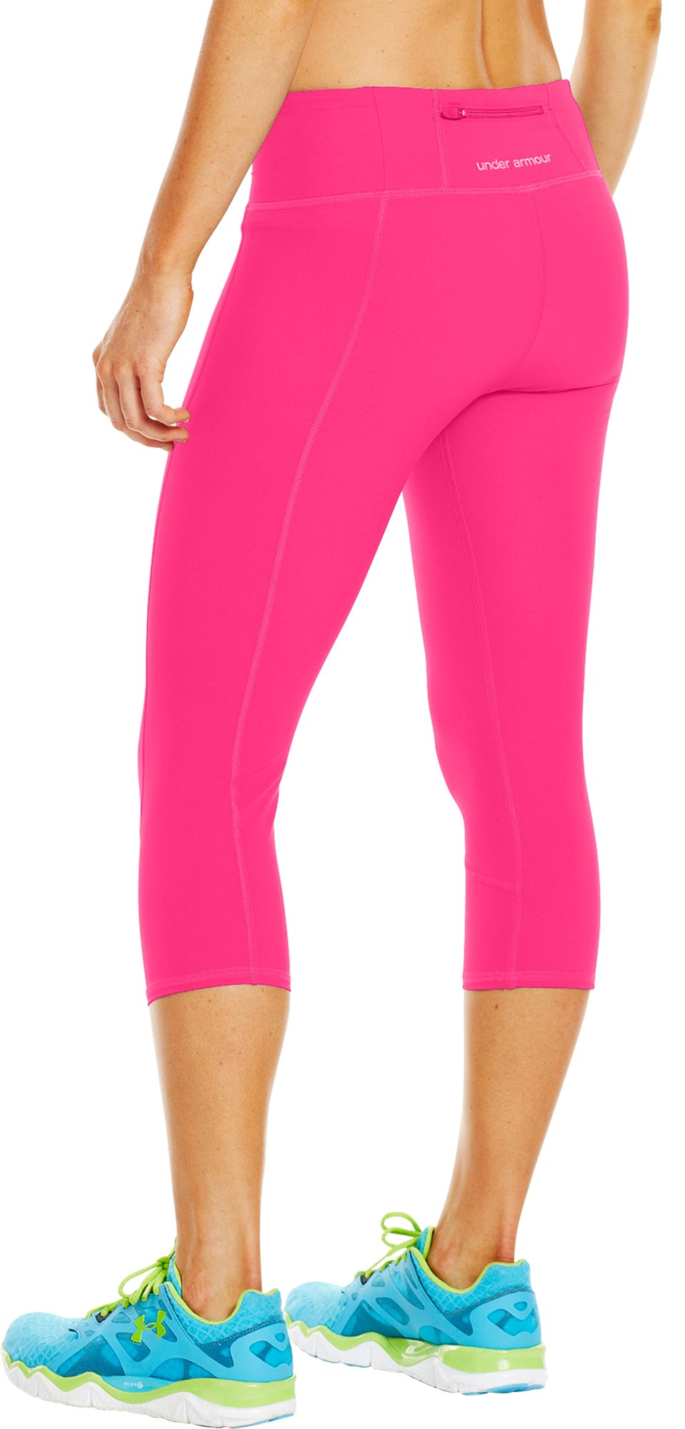 "Women's UA Run Stretch Woven 17"" Capri, PINKADELIC"