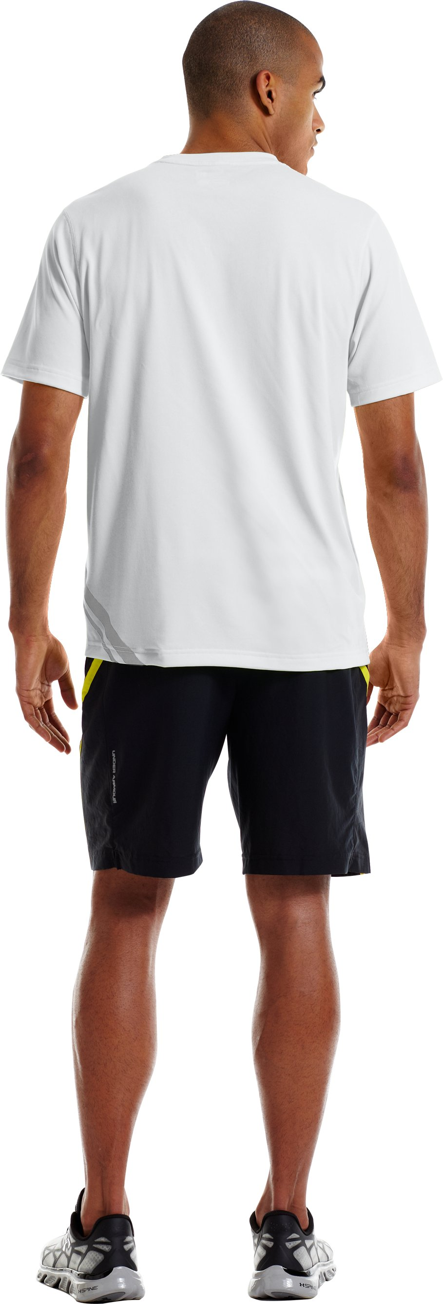 Men's UA Run Reflective T-Shirt, White, Back
