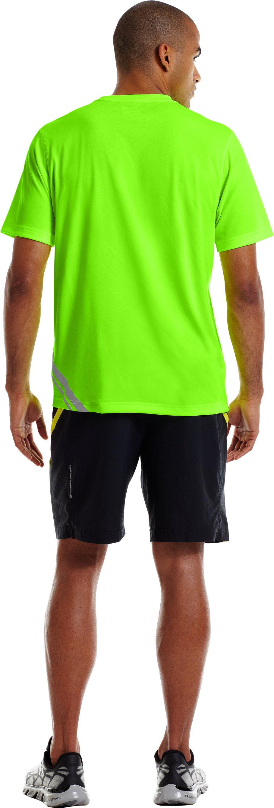Men's UA Run Reflective T-Shirt, HYPER GREEN, Back