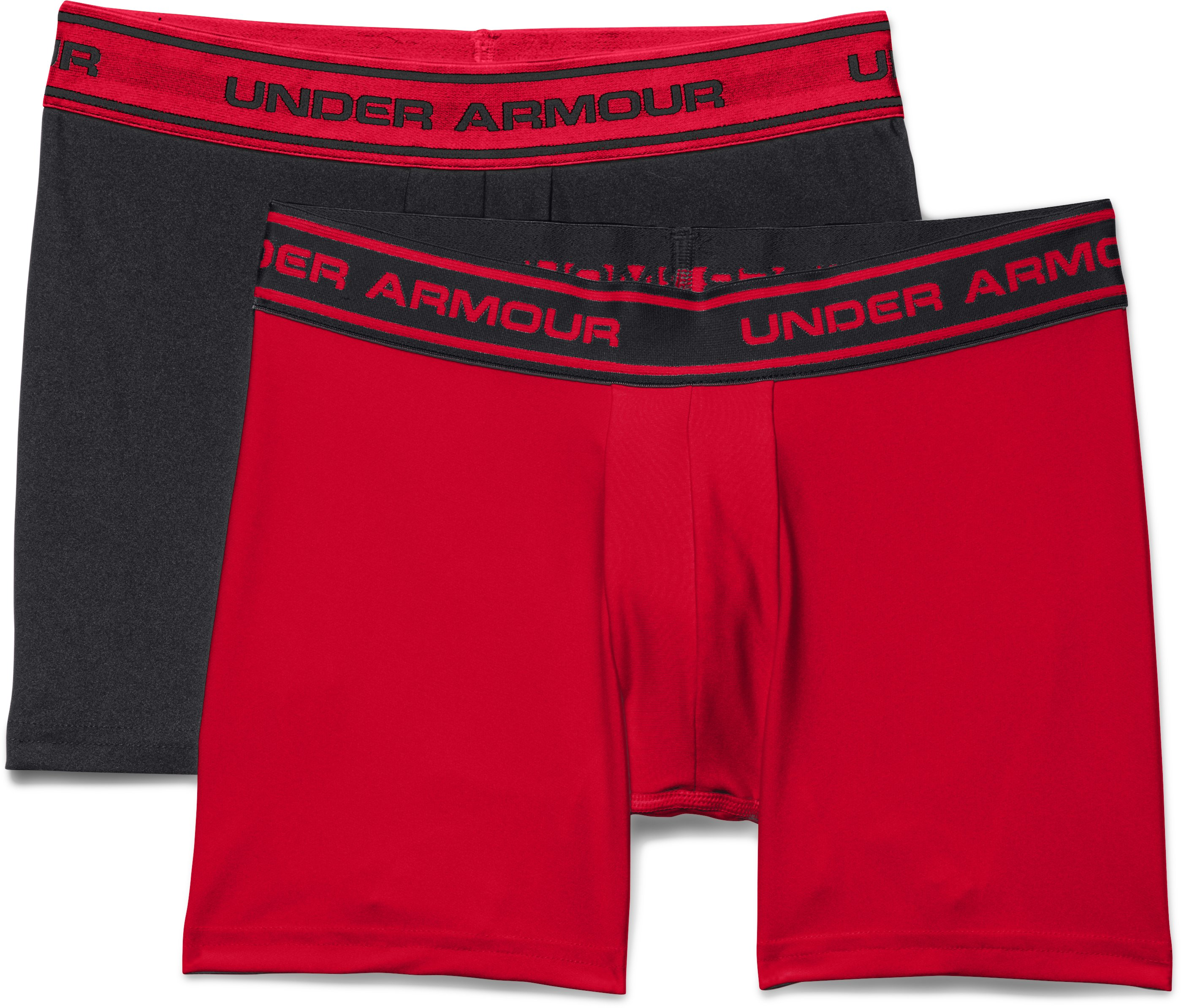 Boys' UA Original Series Boxerjock® 2-Pack, Black , Laydown