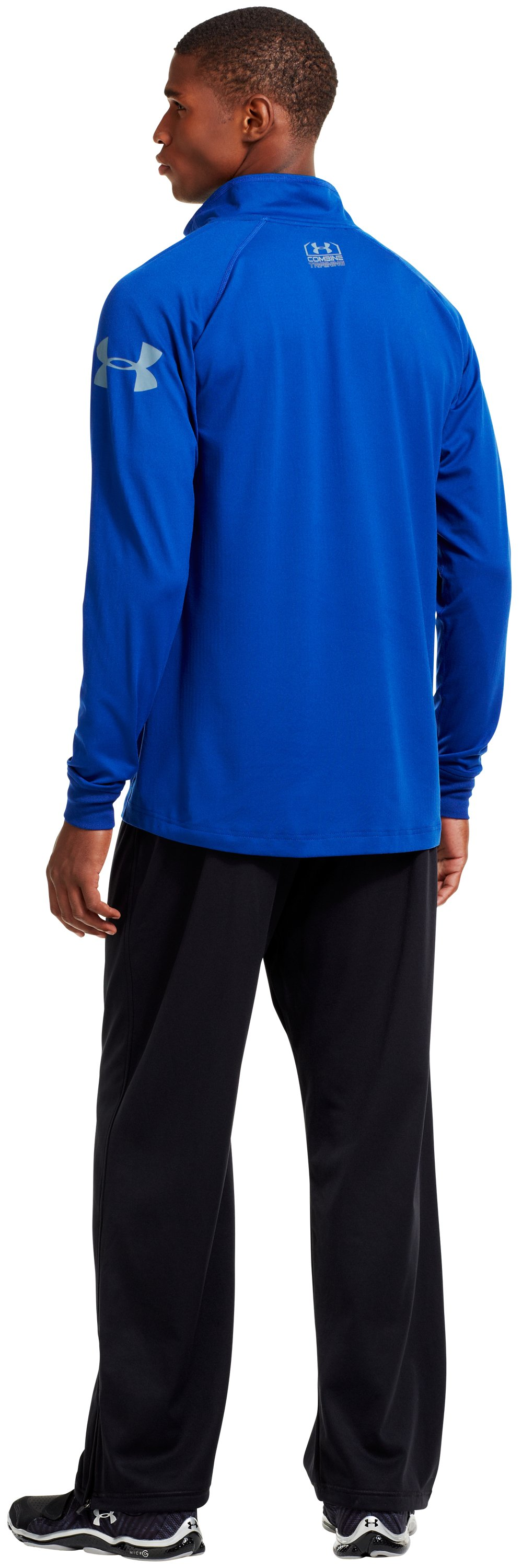 Men's UA Combine® Training ColdGear® Infrared ¼ Zip, Bauhaus Blue, Back