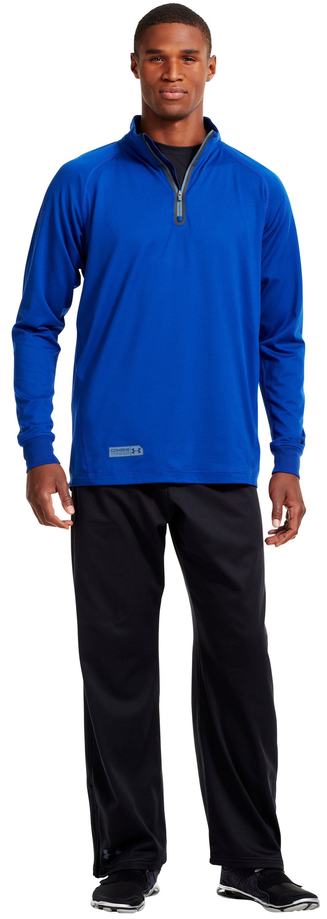 Men's UA Combine® Training ColdGear® Infrared ¼ Zip, Bauhaus Blue, Front