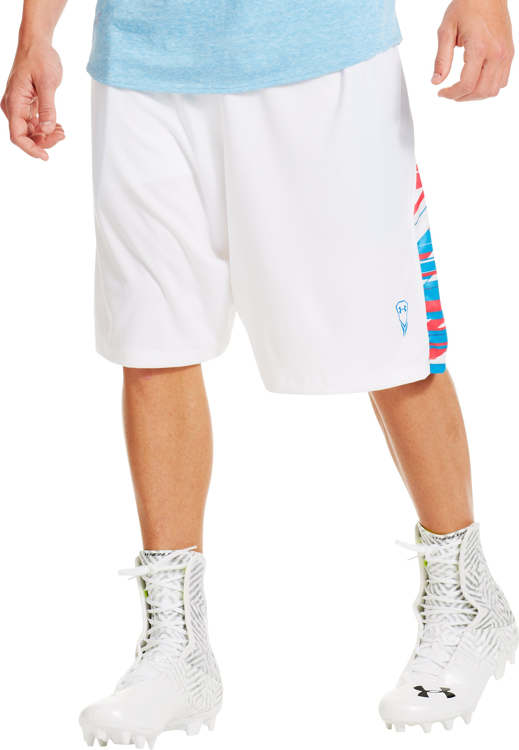 Men's UA Uri Dicuhluss Lacrosse Shorts, White, zoomed image
