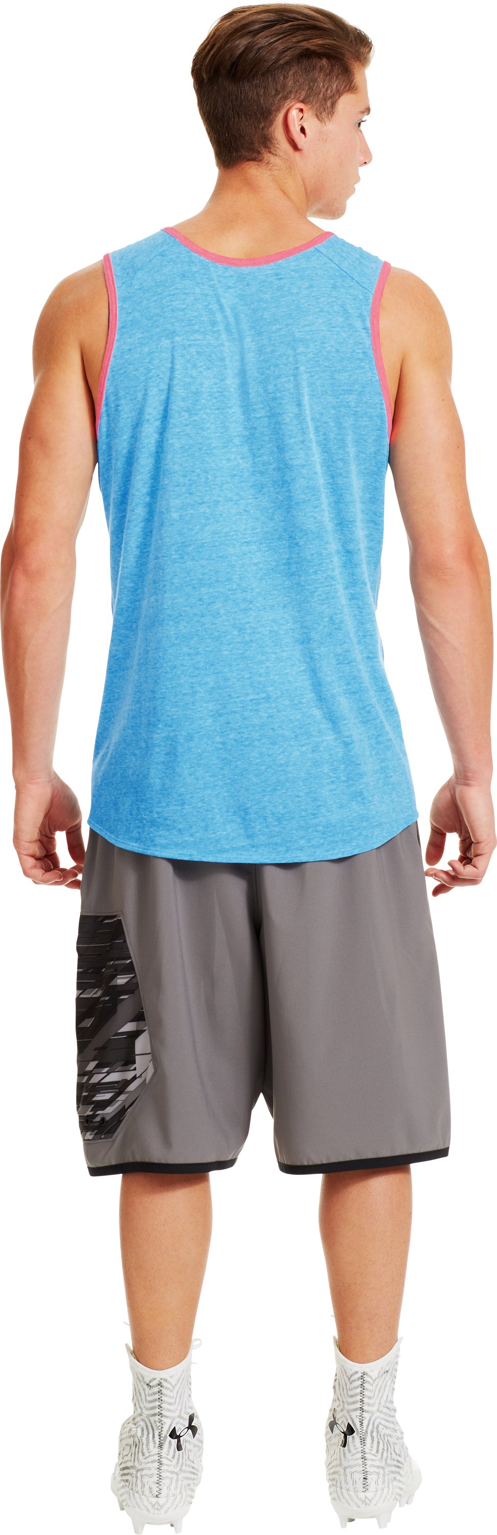 Men's UA Two-Tone Timmy Tank, ELECTRIC BLUE, Back