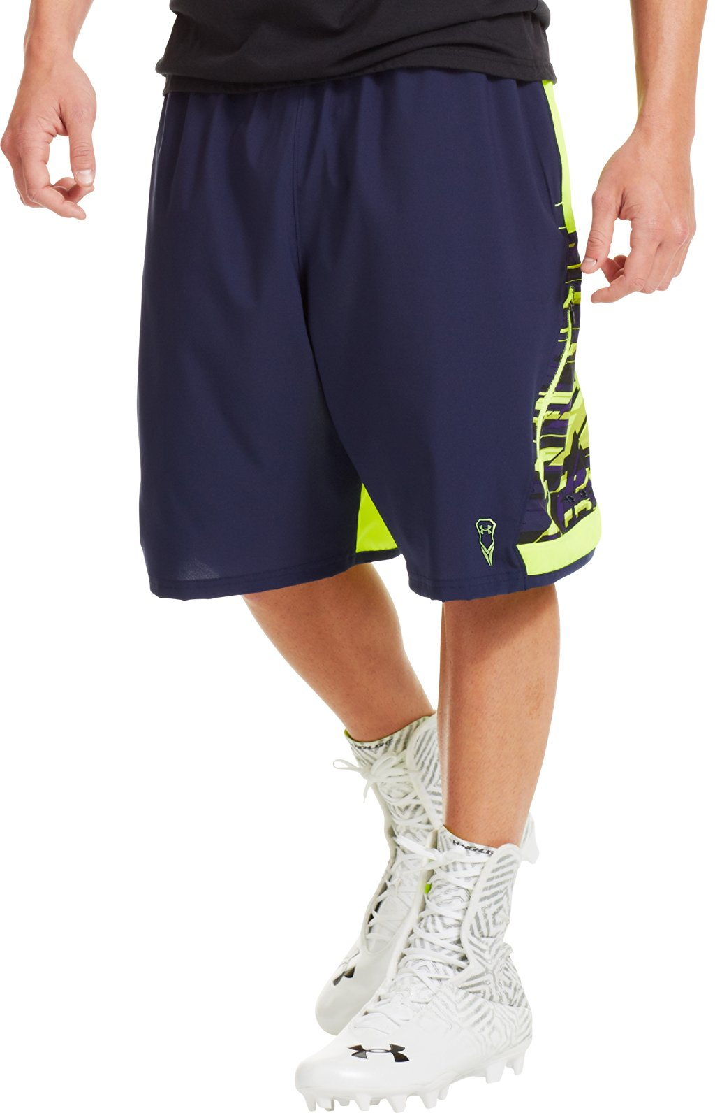 Men's UA Evade Lacrosse Shorts, Midnight Navy, zoomed image