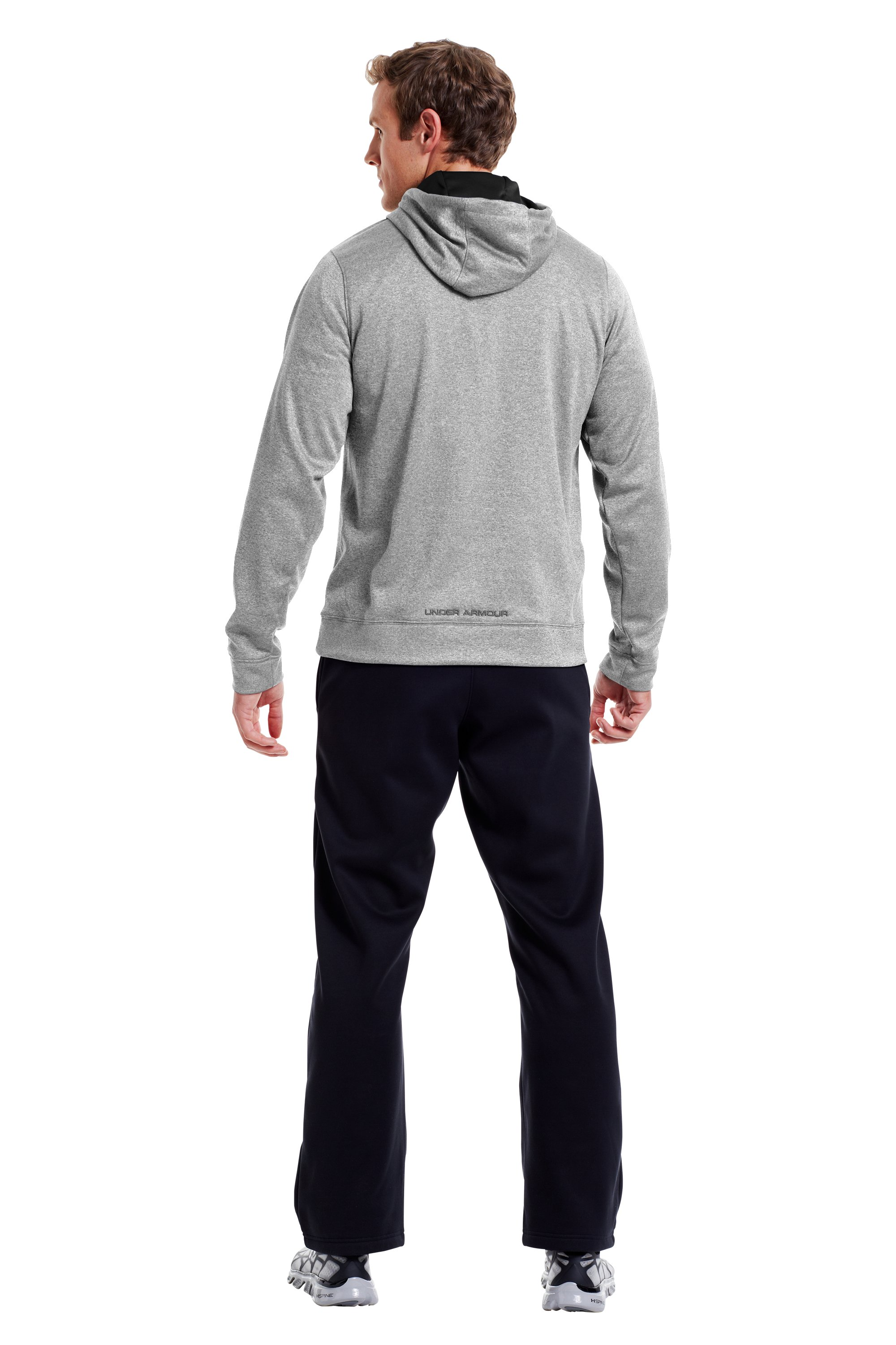 Men's UA Storm Armour® Fleece Big Logo Hoodie, True Gray Heather, Back