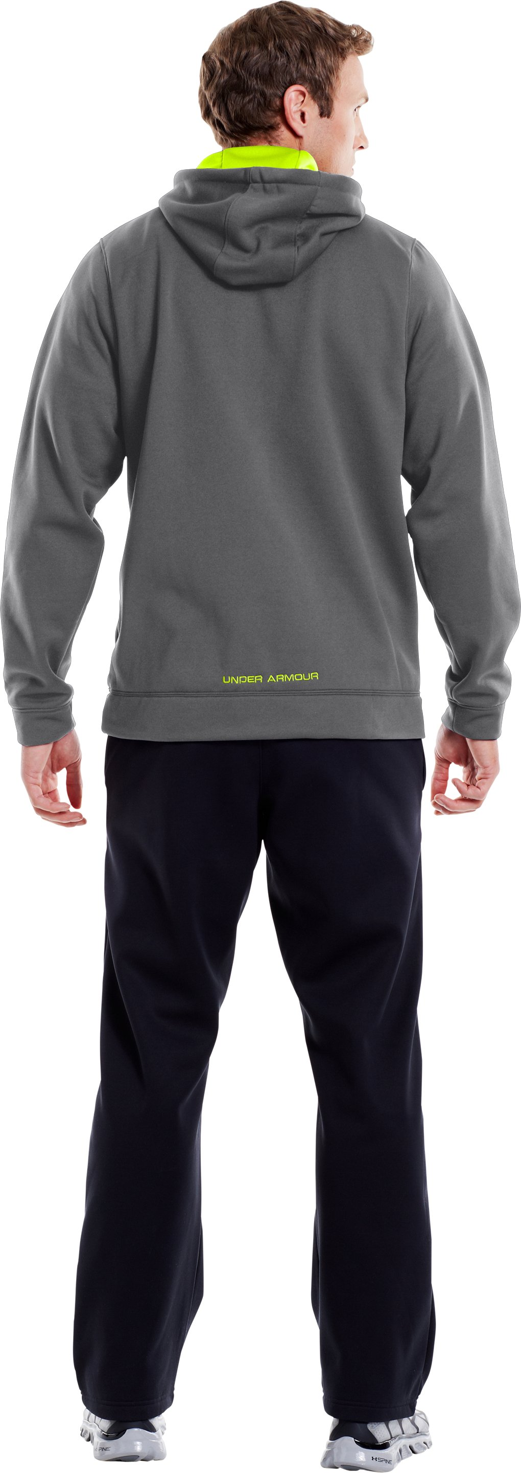 Men's UA Storm Armour® Fleece Big Logo Hoodie, Graphite, Back