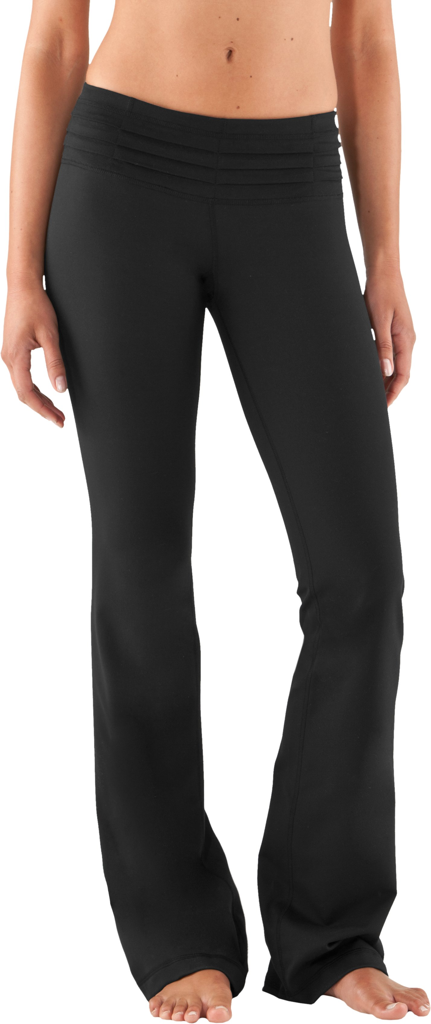 "Women's 35.5"" UA Quattro Pant - Tall, Black , zoomed image"