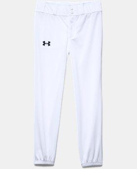 Boys' UA Clean Up Closed Bottom Baseball Pants