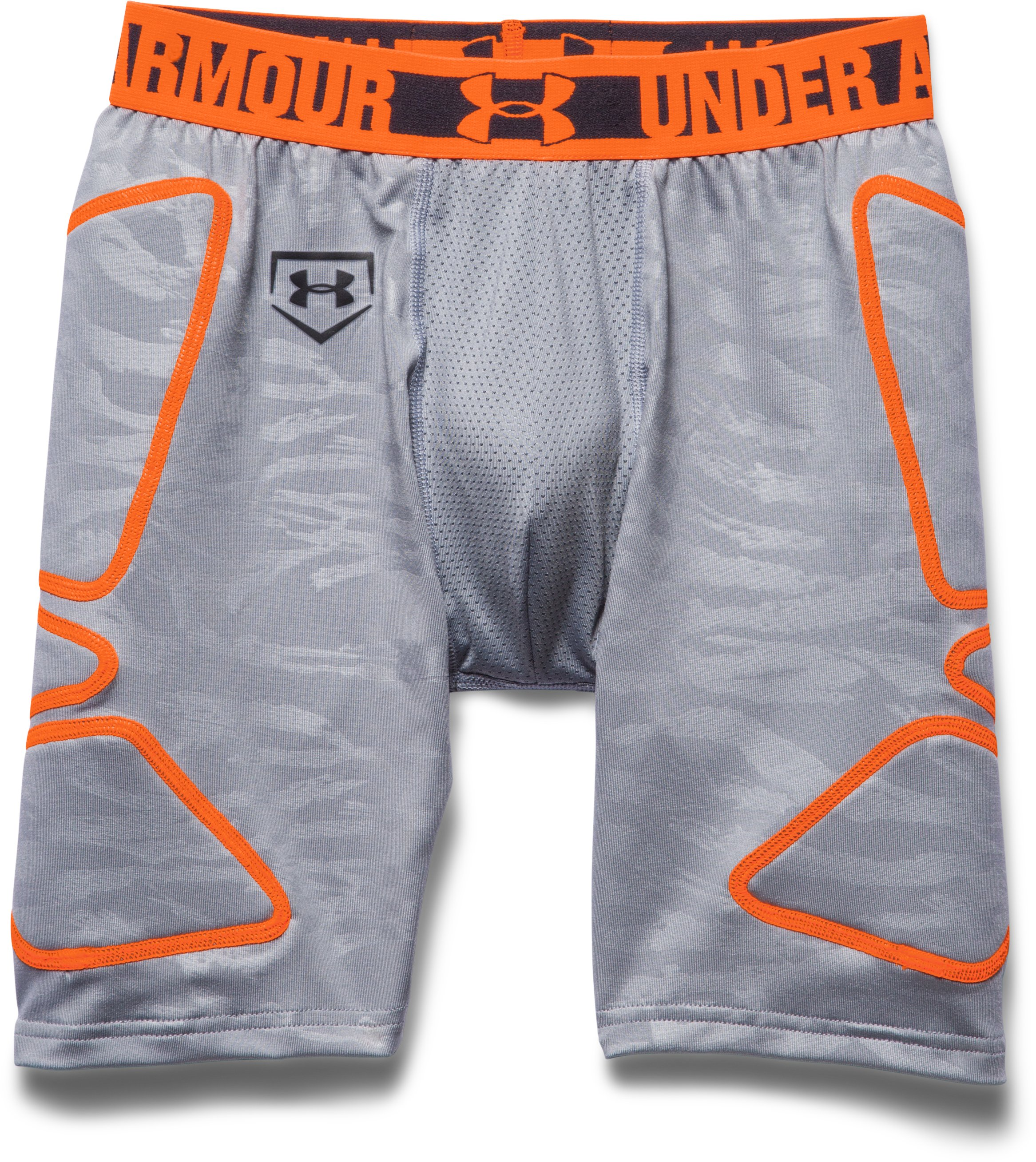 Boys' UA Break Through Printed Slider, Steel, Laydown