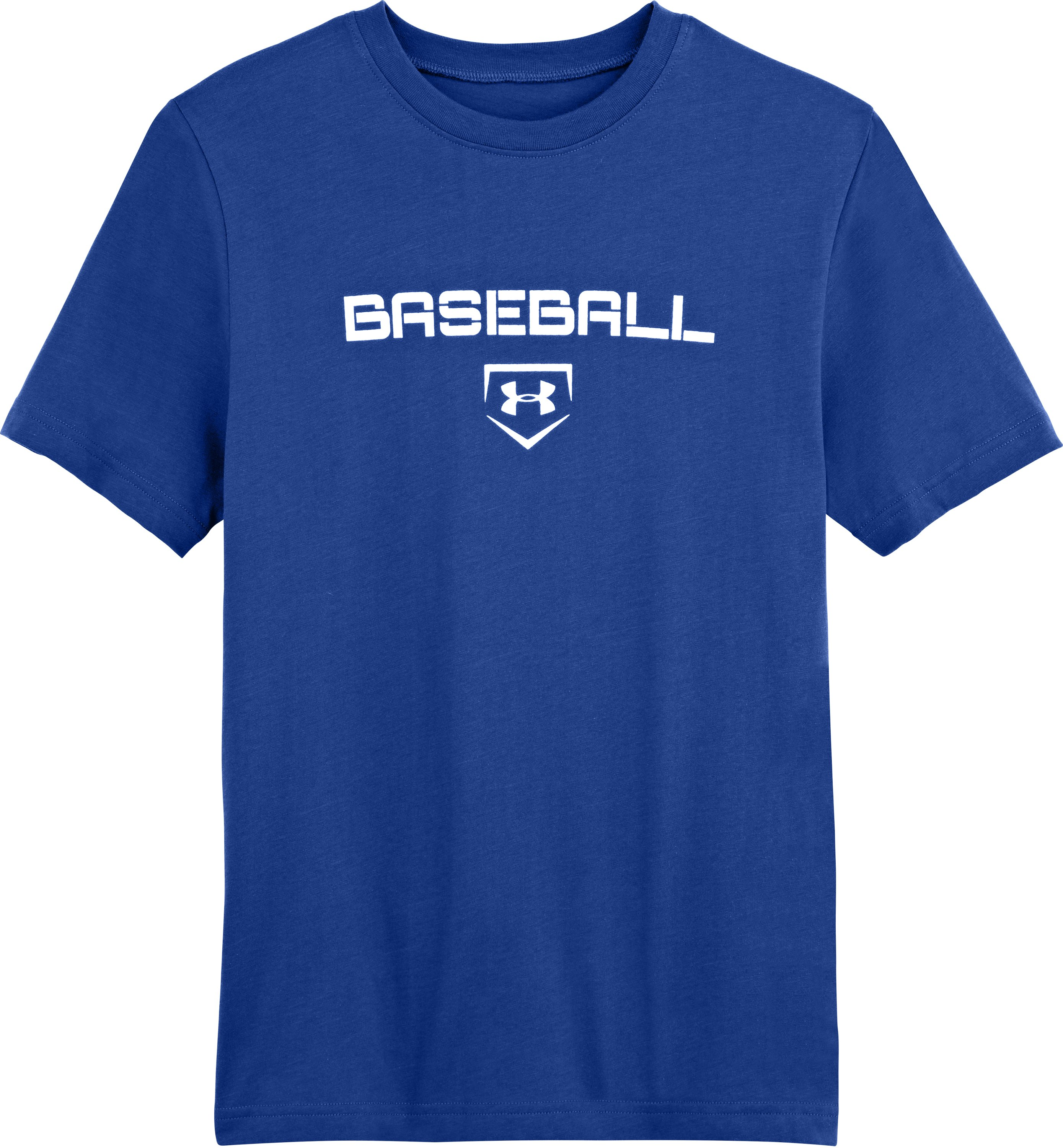 Boys' UA Baseball Next T-Shirt, Royal, Laydown
