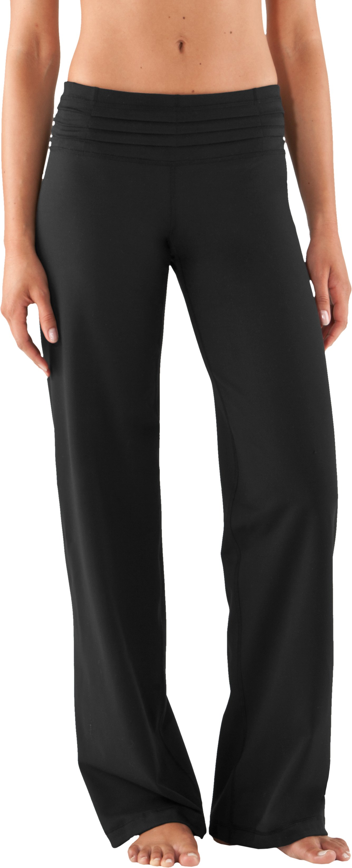 "Women's UA StudioLux® Quattro Flow 33.5"" Pants, Black , zoomed image"