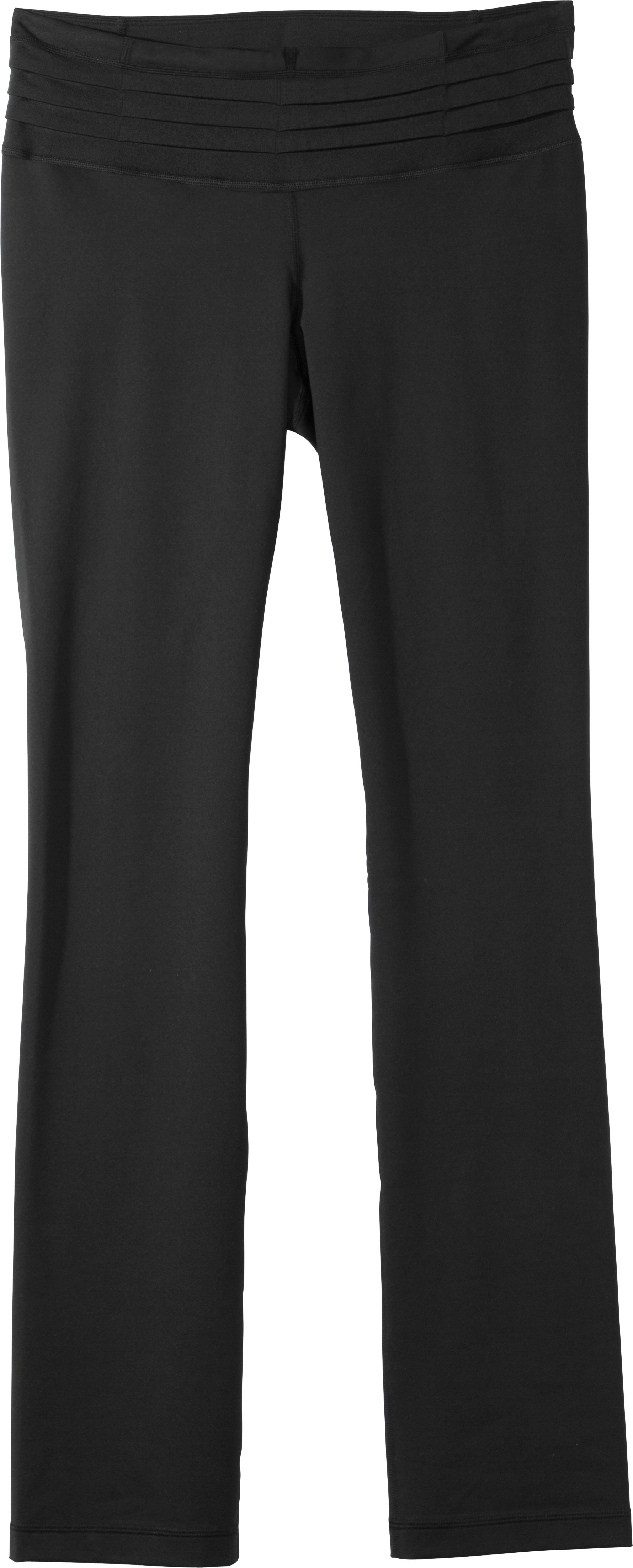 "Women's UA StudioLux® Quattro Straight Leg 32"" Pants, Black , Laydown"