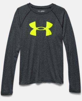 Boys' UA Tech™ Big Logo Printed Long Sleeve T-Shirt