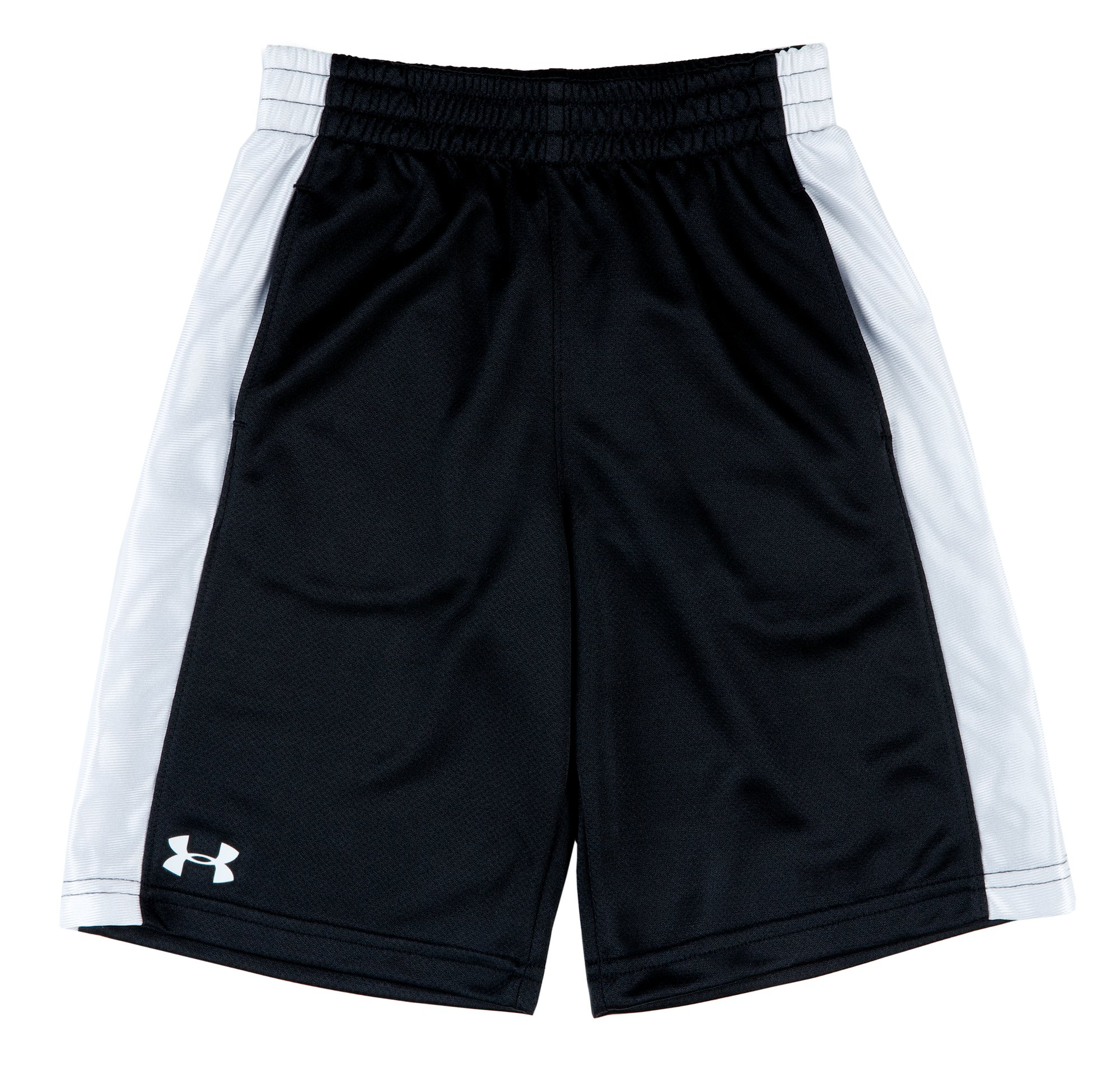 Boys' 4-7 UA Ultimate Shorts, Black , Laydown