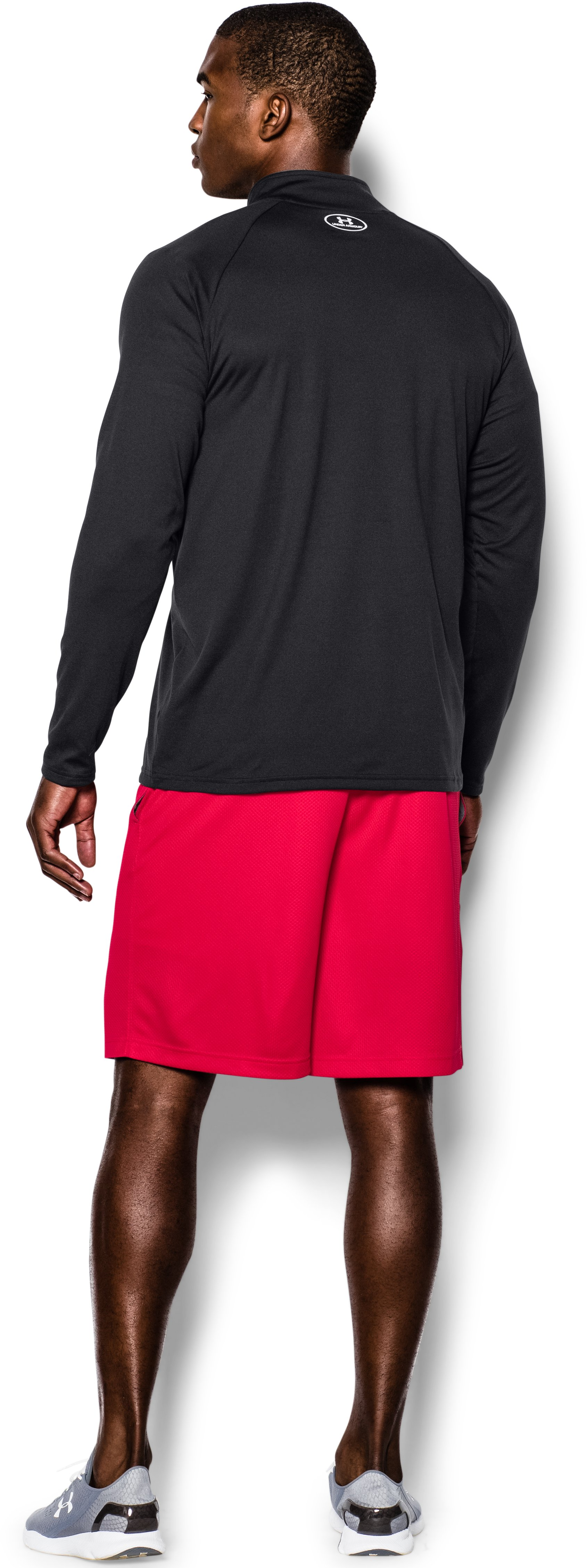 Men's UA Tech™ ¼ Zip, Black , Back