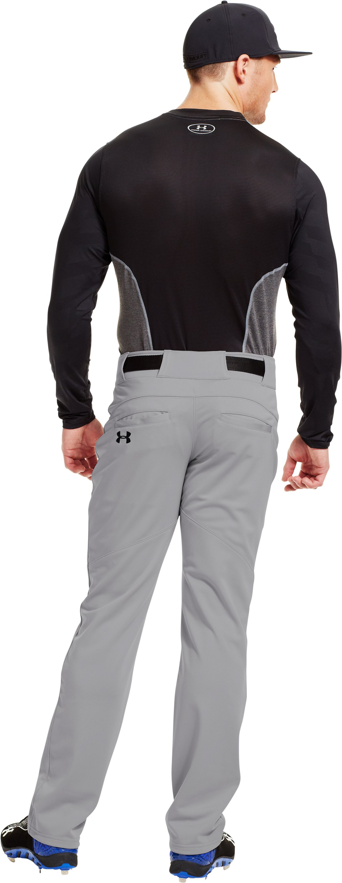 Men's UA Spine™ Gameday Long Sleeve, Black , Back