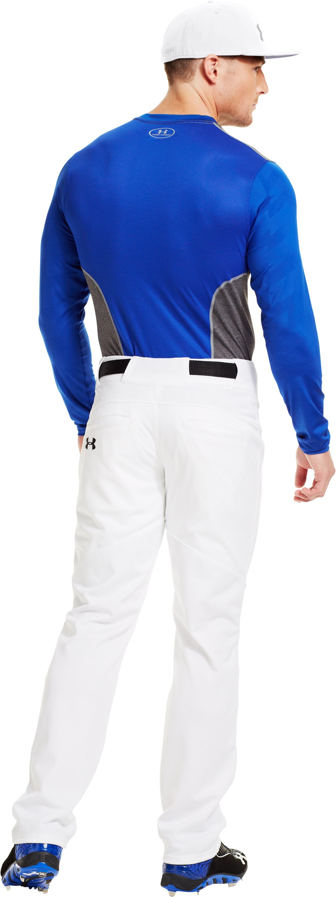 Men's UA Spine™ Gameday Long Sleeve, Royal, Back