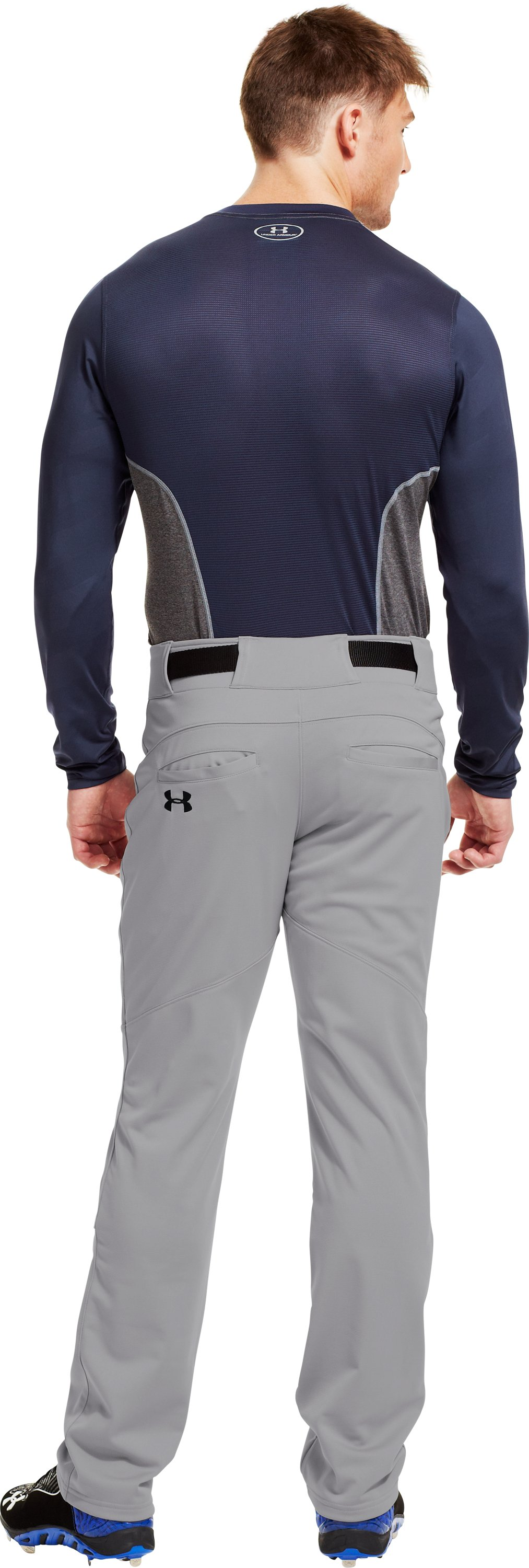Men's UA Spine™ Gameday Long Sleeve, Midnight Navy, Back