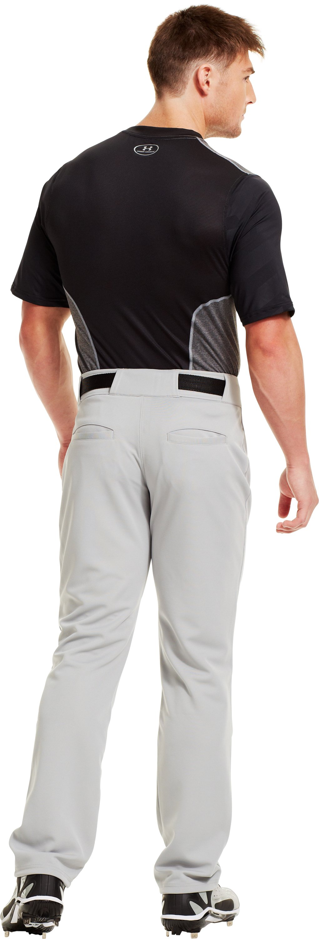 Men's UA Spine™ Gameday Short Sleeve, Black , Back