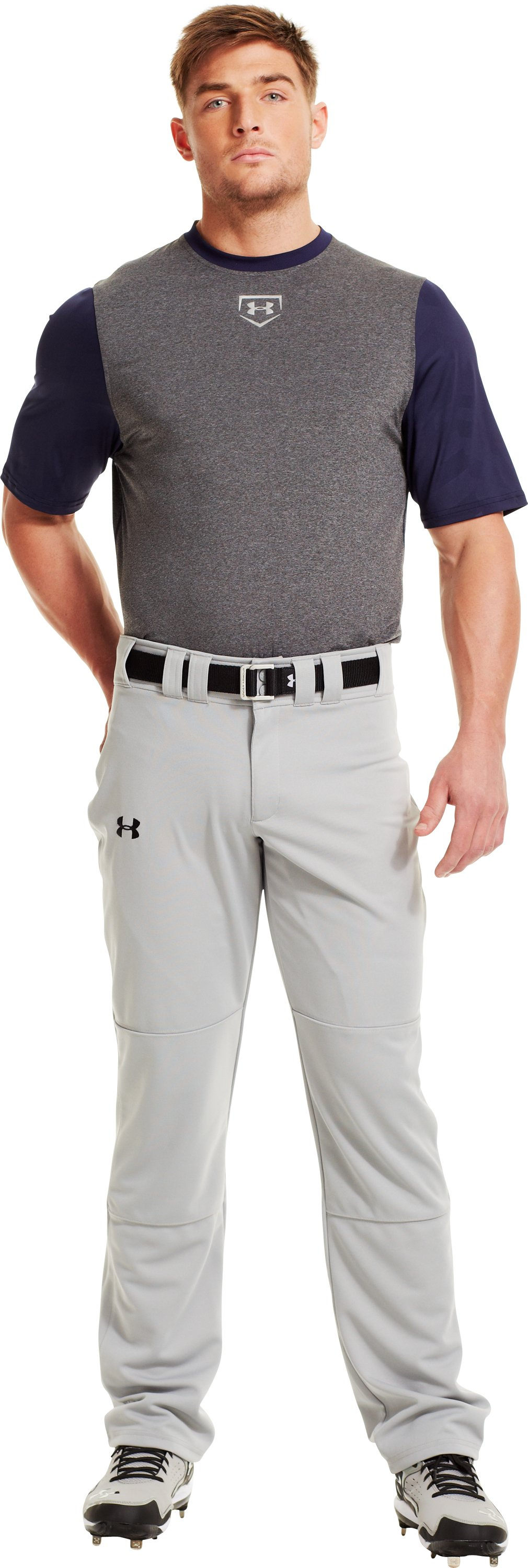 Men's UA Spine™ Gameday Short Sleeve, Midnight Navy, Front