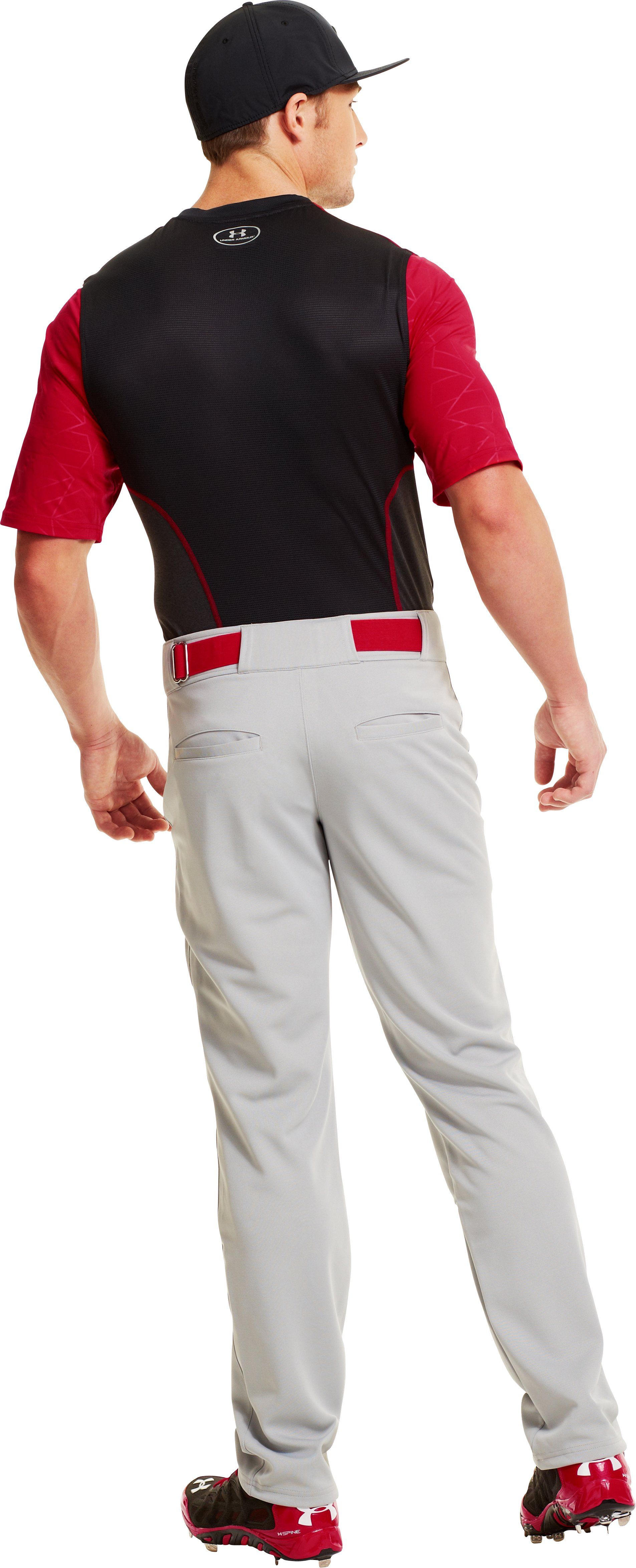 Men's UA Spine™ Gameday Short Sleeve, Red, Back