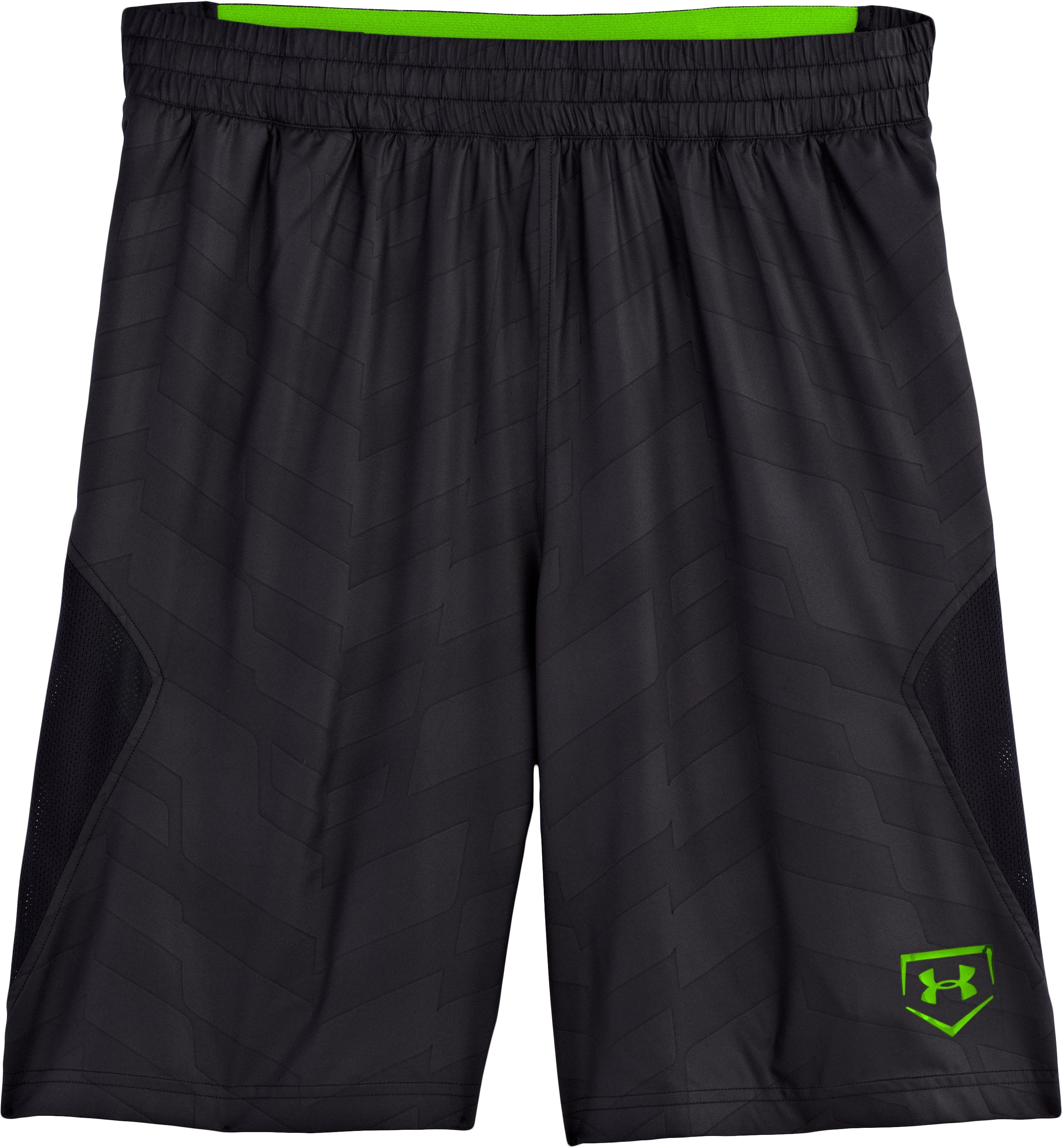 Men's UA CTG Baseball Training Shorts, Black , Laydown
