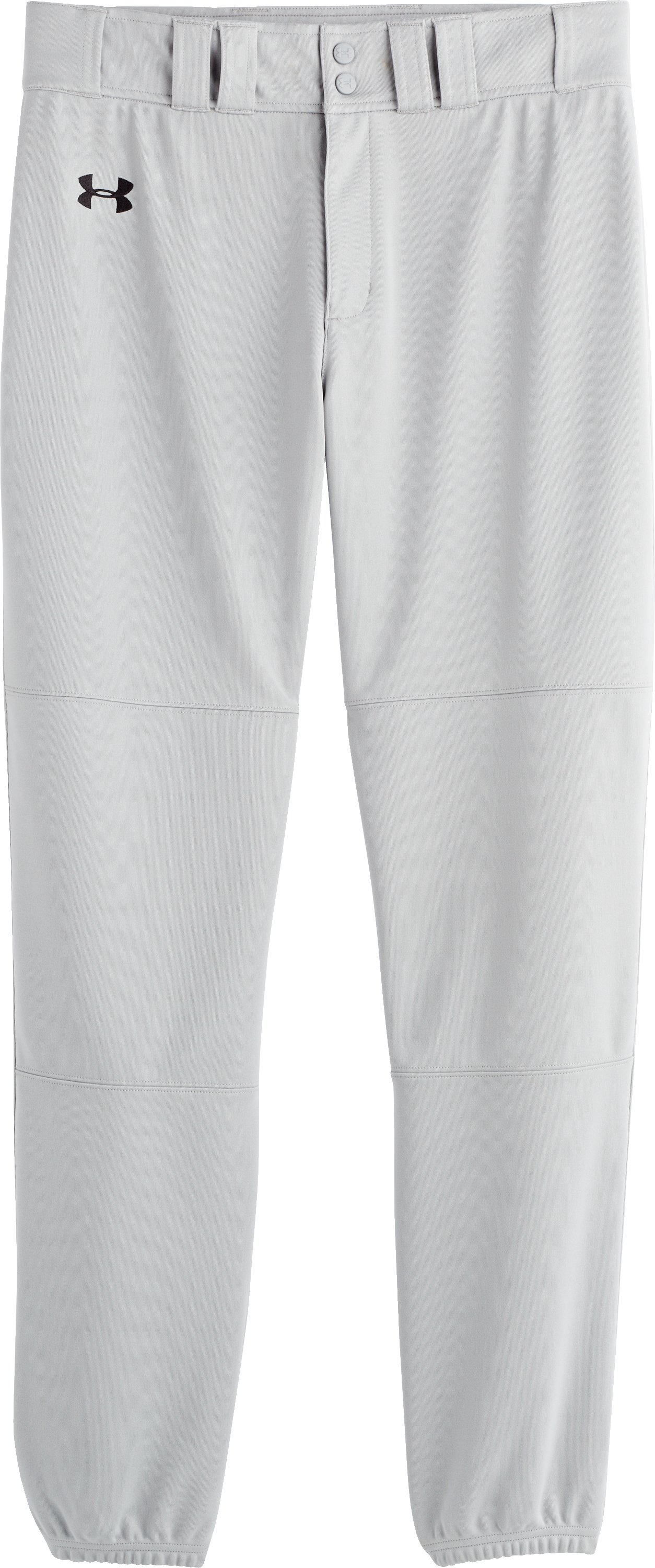 Men's UA Clean Up Closed Baseball Pants, Baseball Gray, Laydown