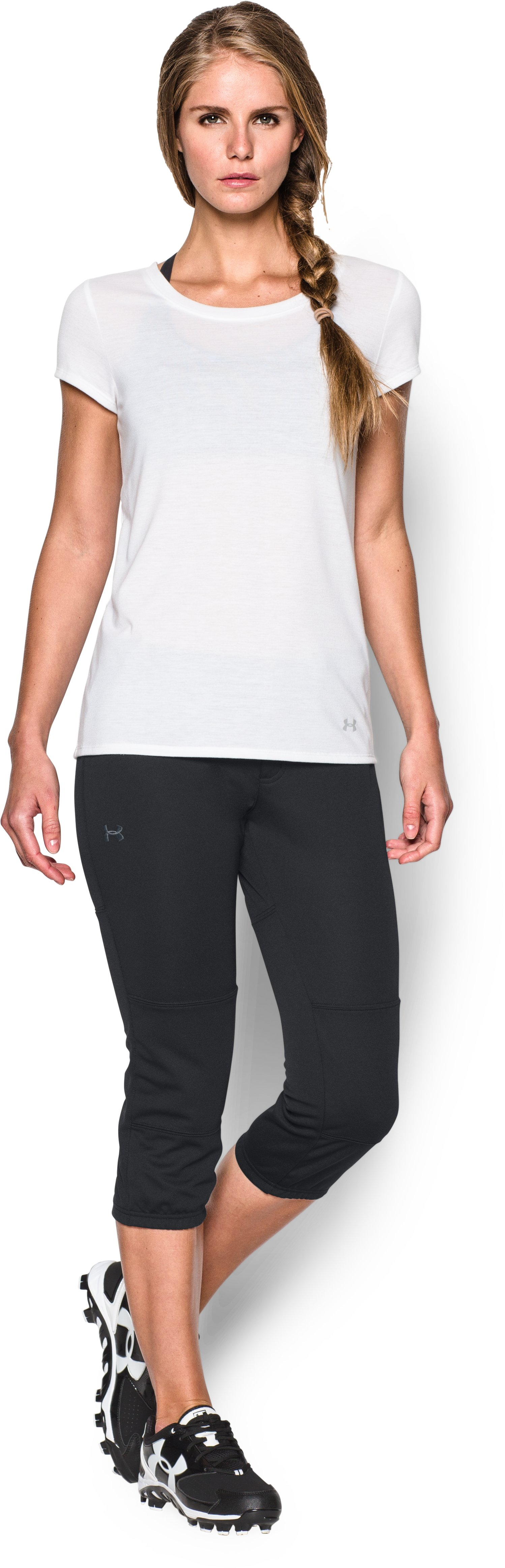 Women's UA Strike Zone Pant, Black , Front