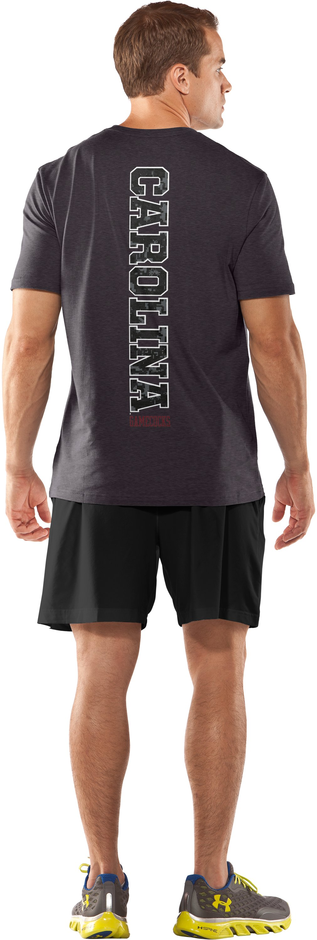 Men's Charged Cotton® Palmetto Moon T-Shirt, Carbon Heather, Back