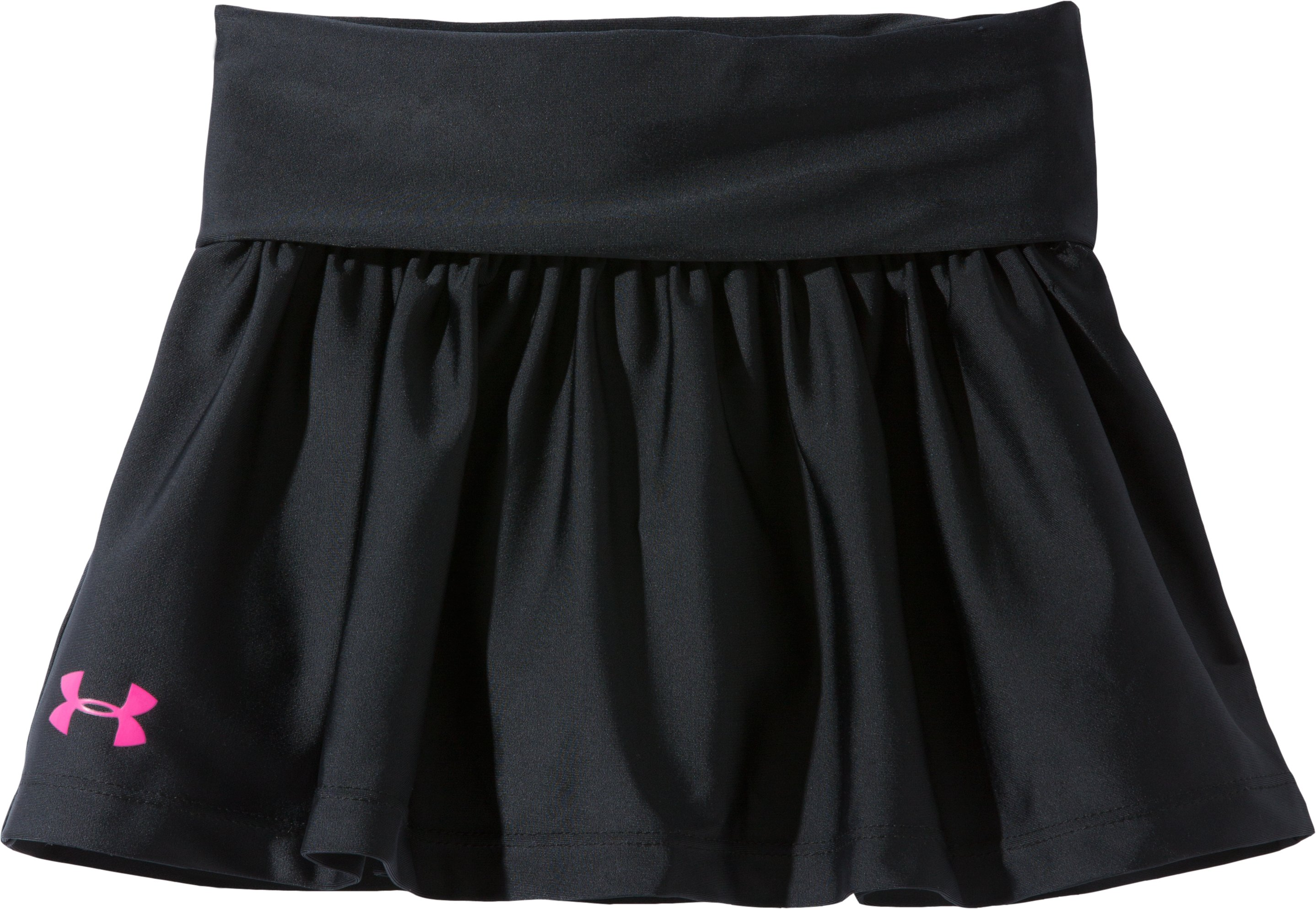 Girls' Pre-School UA Playful Skort, Black , Laydown