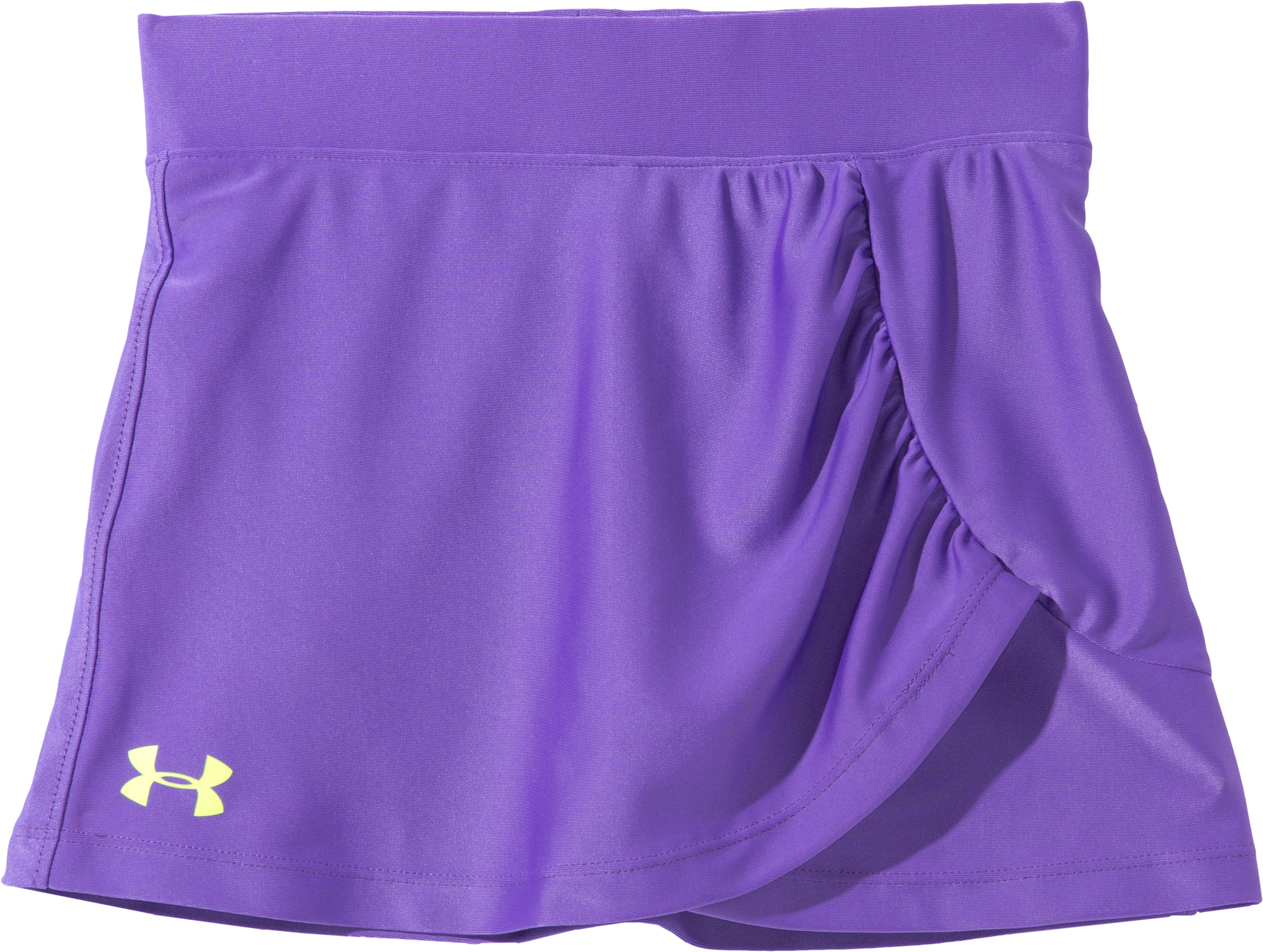 Girls' Pre-School UA Attitude Skort, LAVISH, Laydown