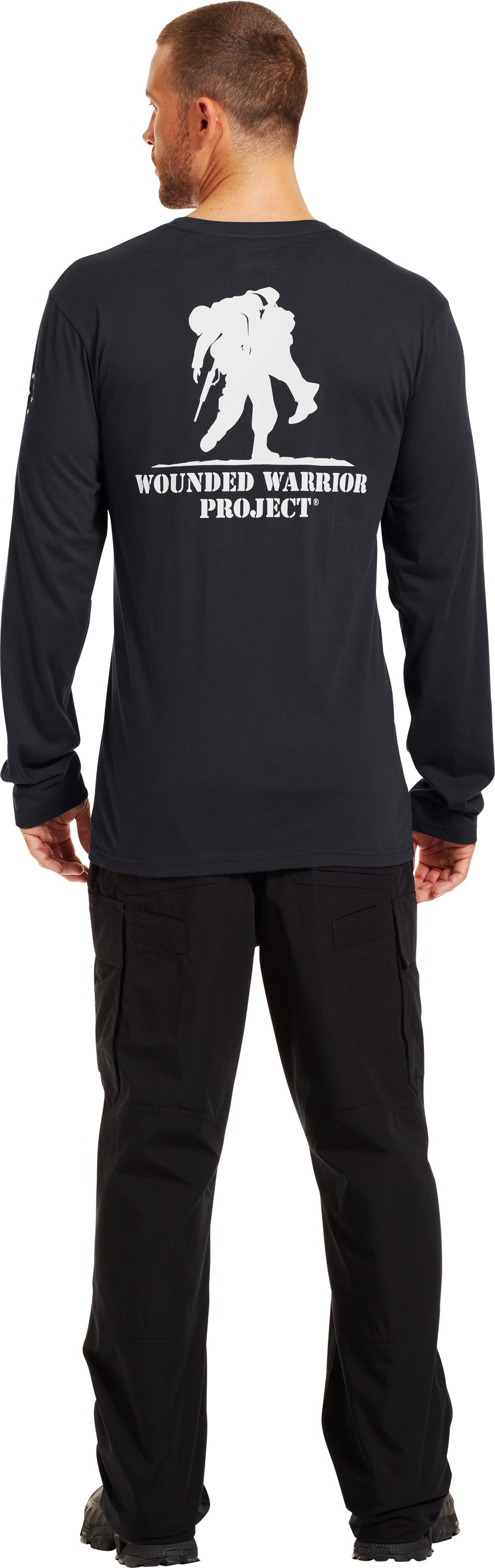 Men's UA WWP Long Sleeve T-Shirt, Black , Back