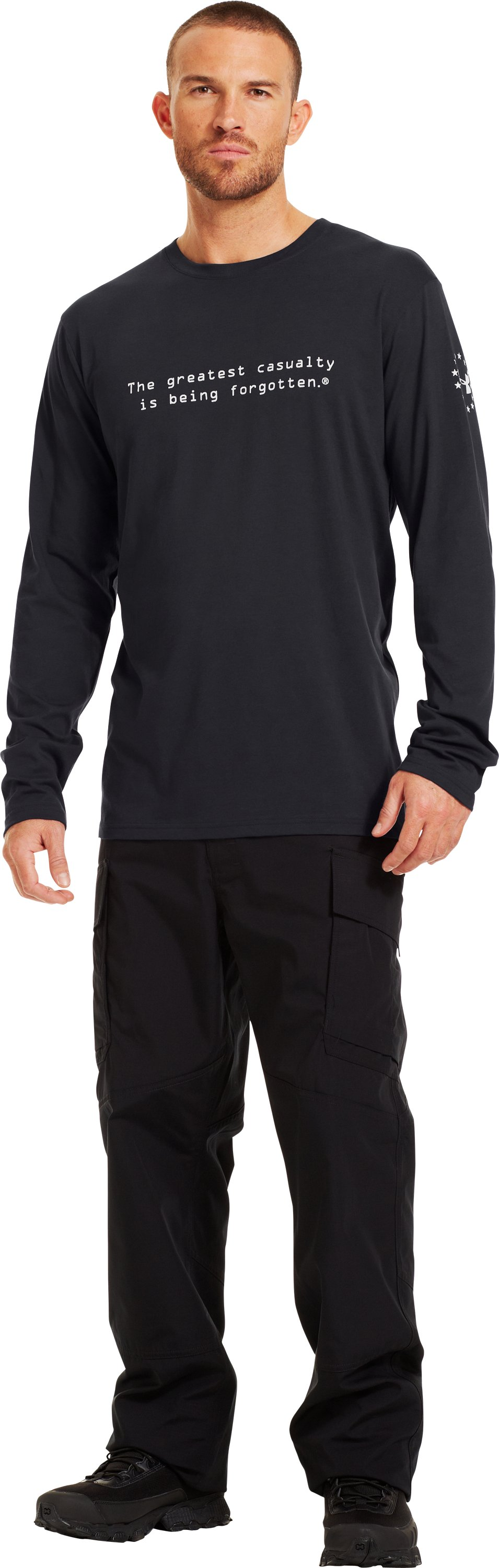 Men's UA WWP Long Sleeve T-Shirt, Black , Front