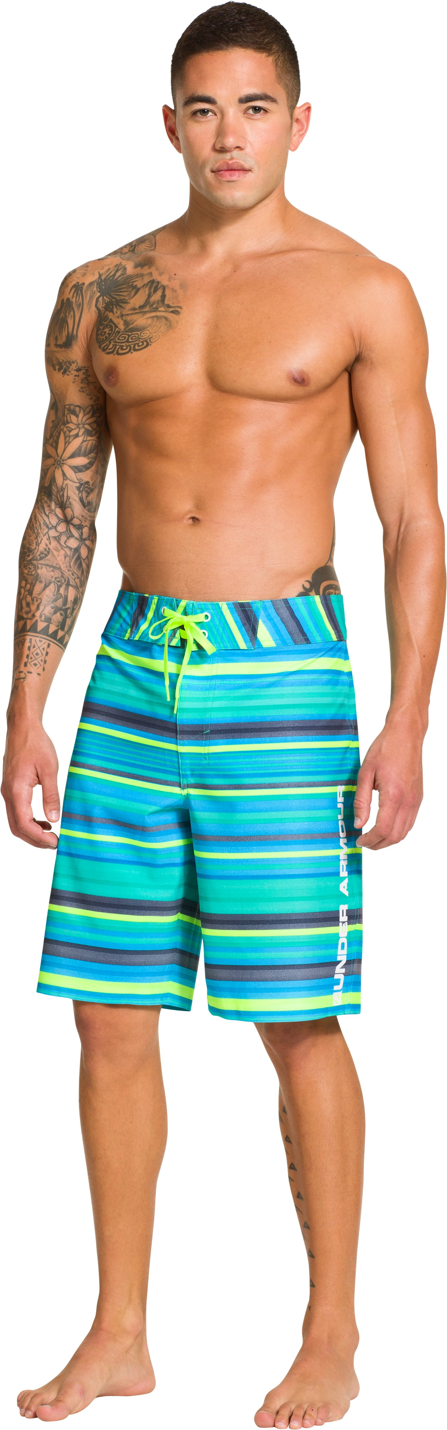 Men's UA Papara Boardshorts, Jade River, Front