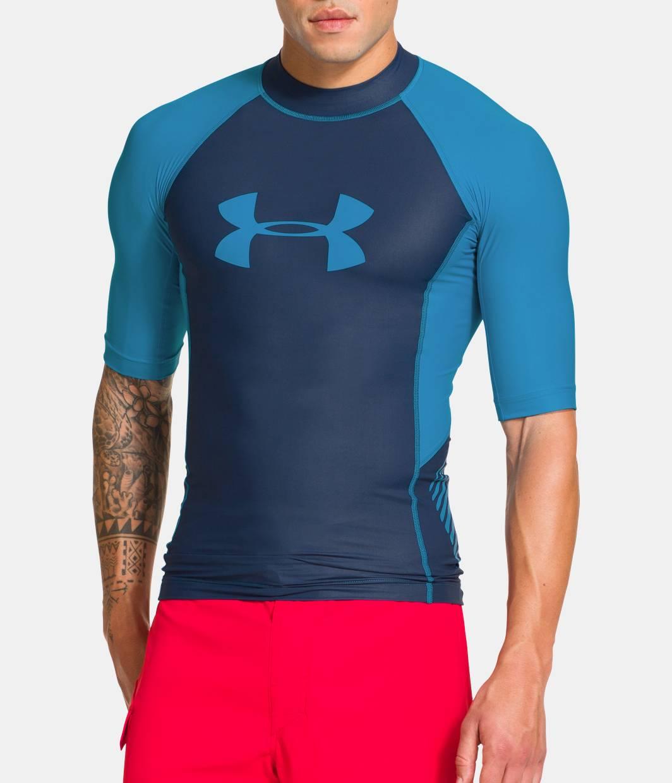 Men s ua entendre short sleeve rash guard under armour us for Under armour swim shirt