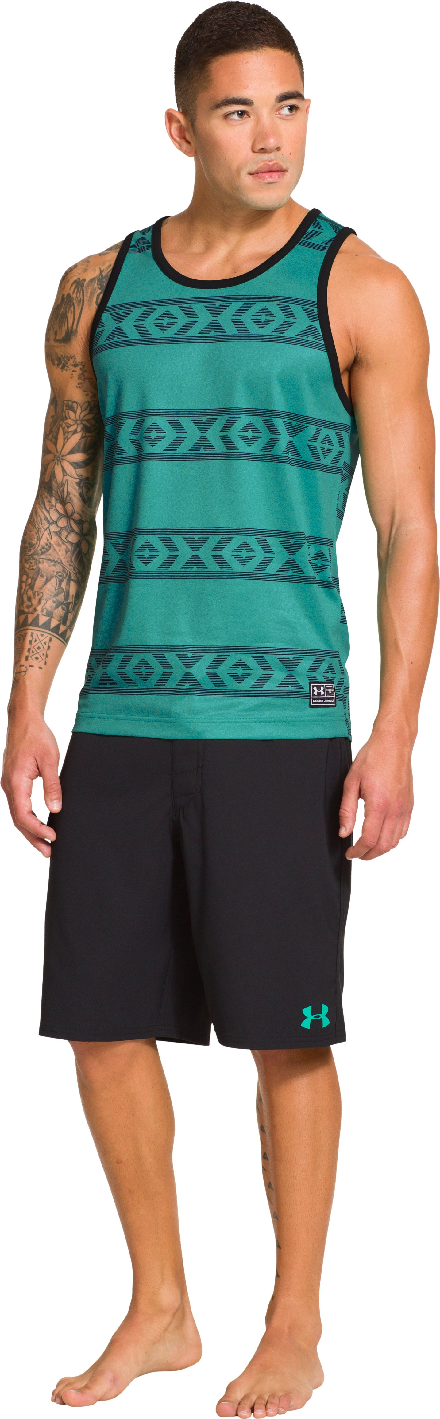 Men's UA Hut 2 Tank, Jade River, Front