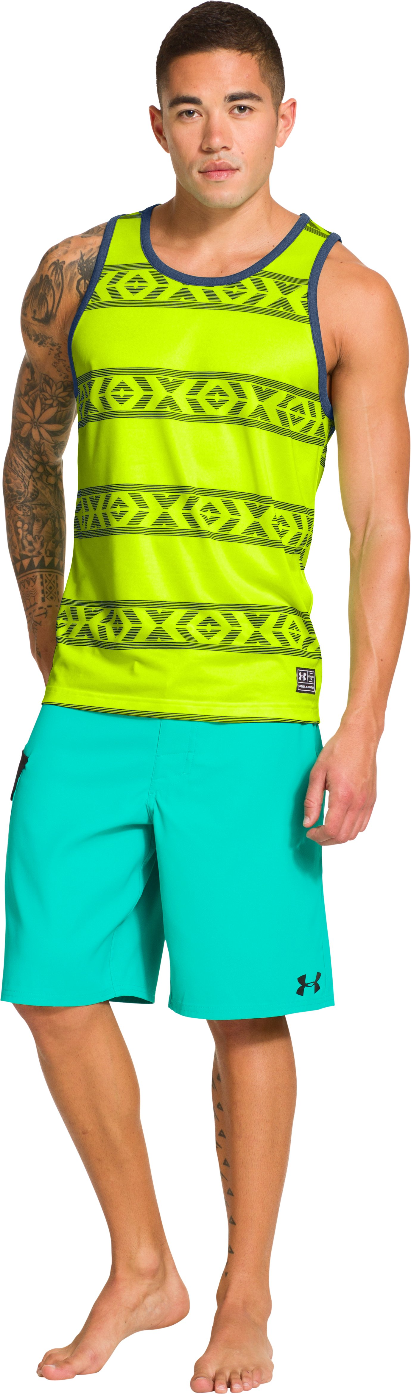 Men's UA Hut 2 Tank, High-Vis Yellow, zoomed image