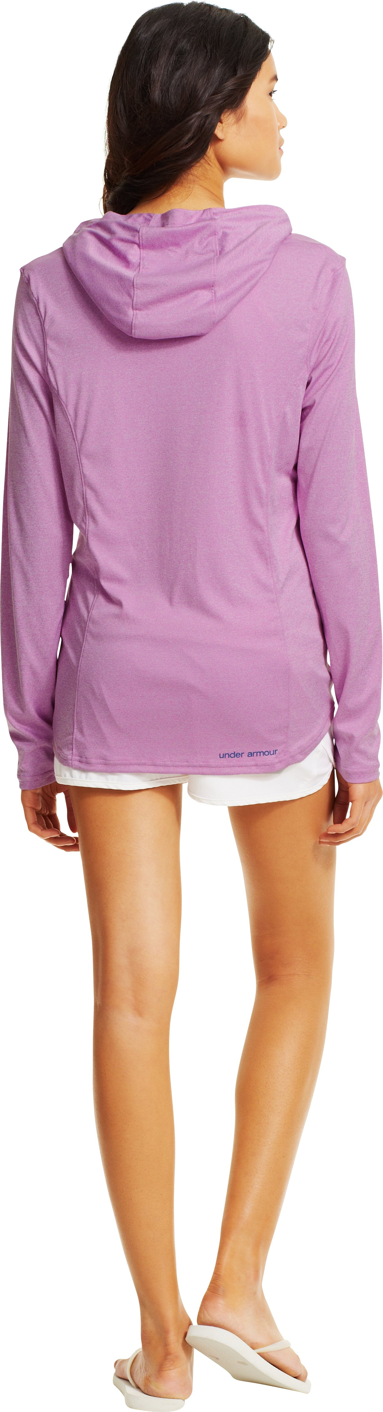 Women's UA Secretsee Hoodie, EXOTIC BLOOM, Back