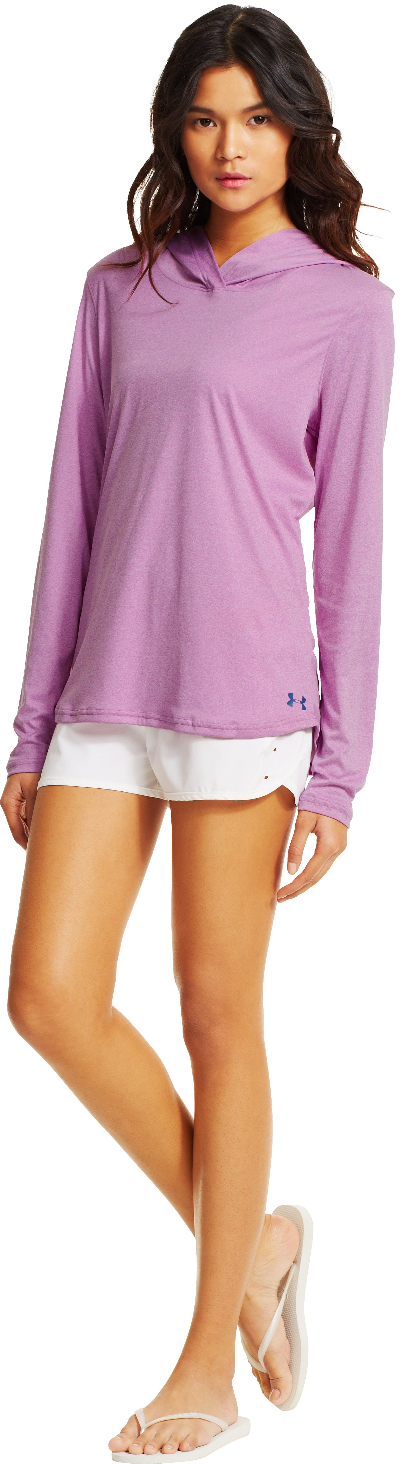 Women's UA Secretsee Hoodie, EXOTIC BLOOM, zoomed image
