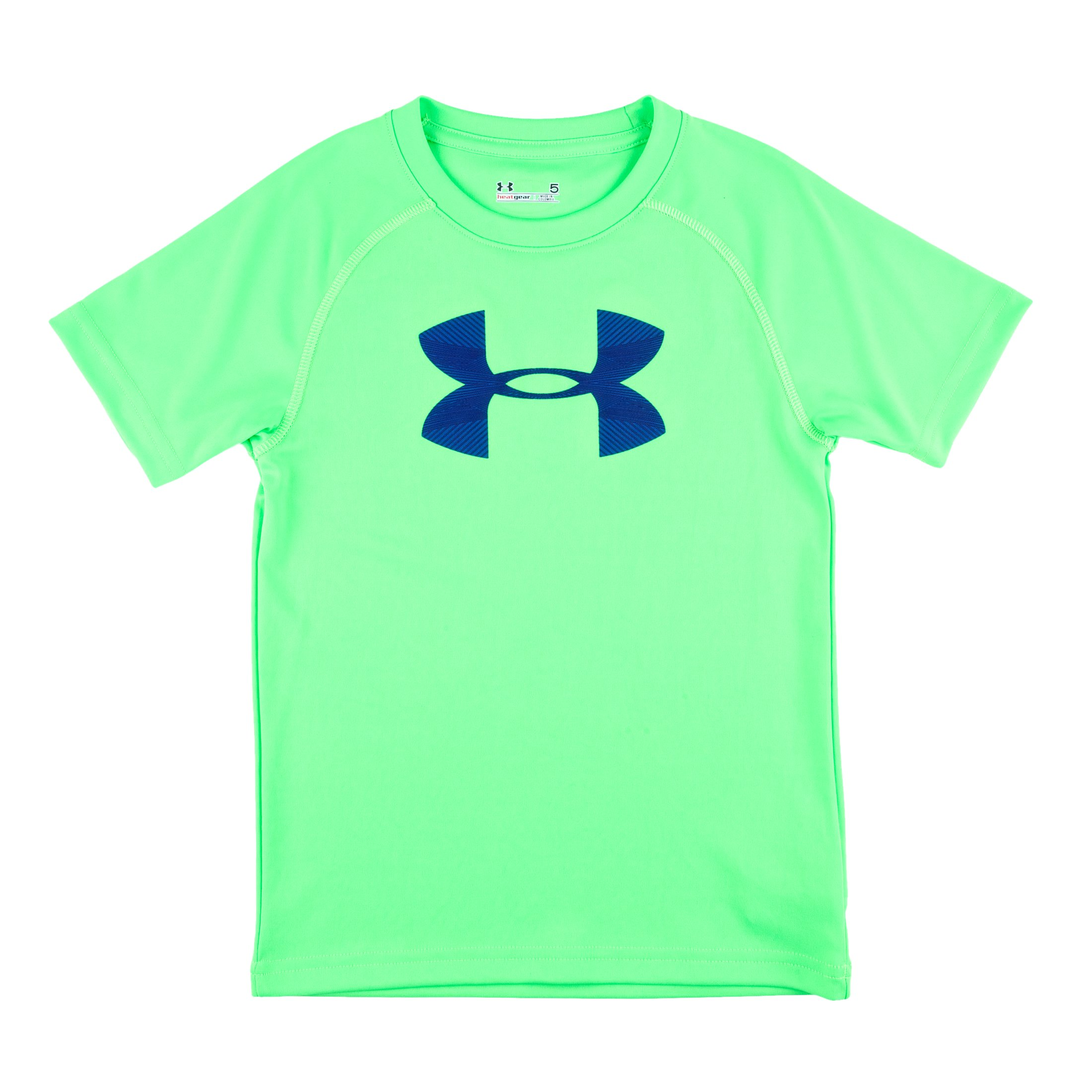 Boys' Infant UA Big Logo Neon T-Shirt, Poison, Laydown